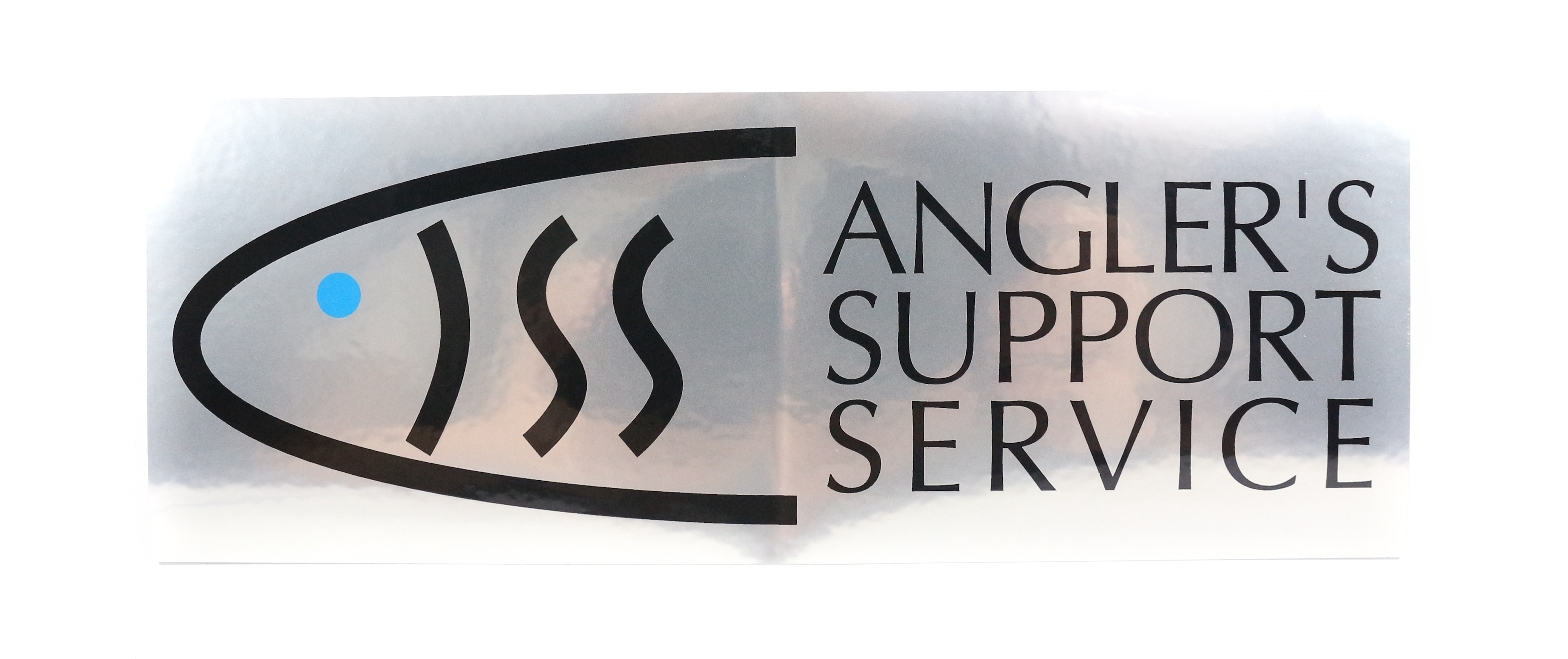 Sale Anglers Support Service Sticker Silver (0041)