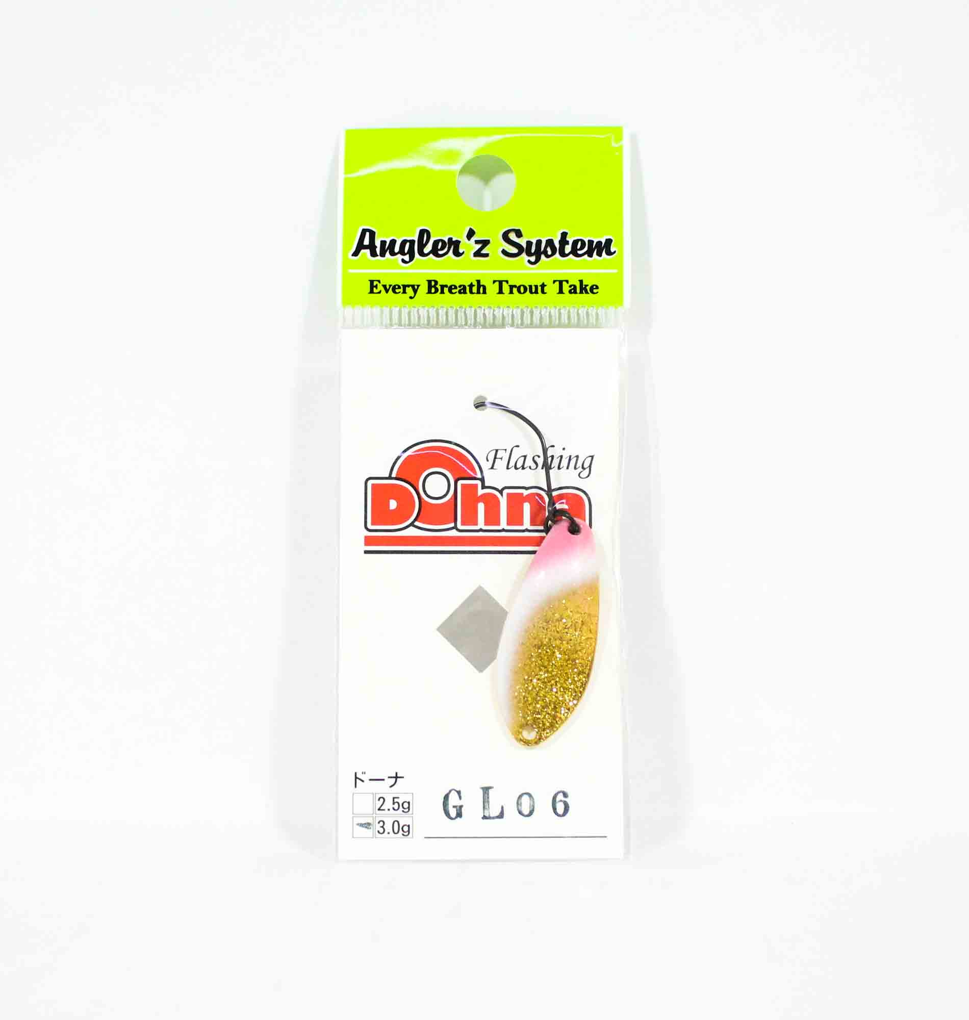 Anglers System Antem Dohna 3.0 grams Spoon Sinking Lure GL06 (6710)