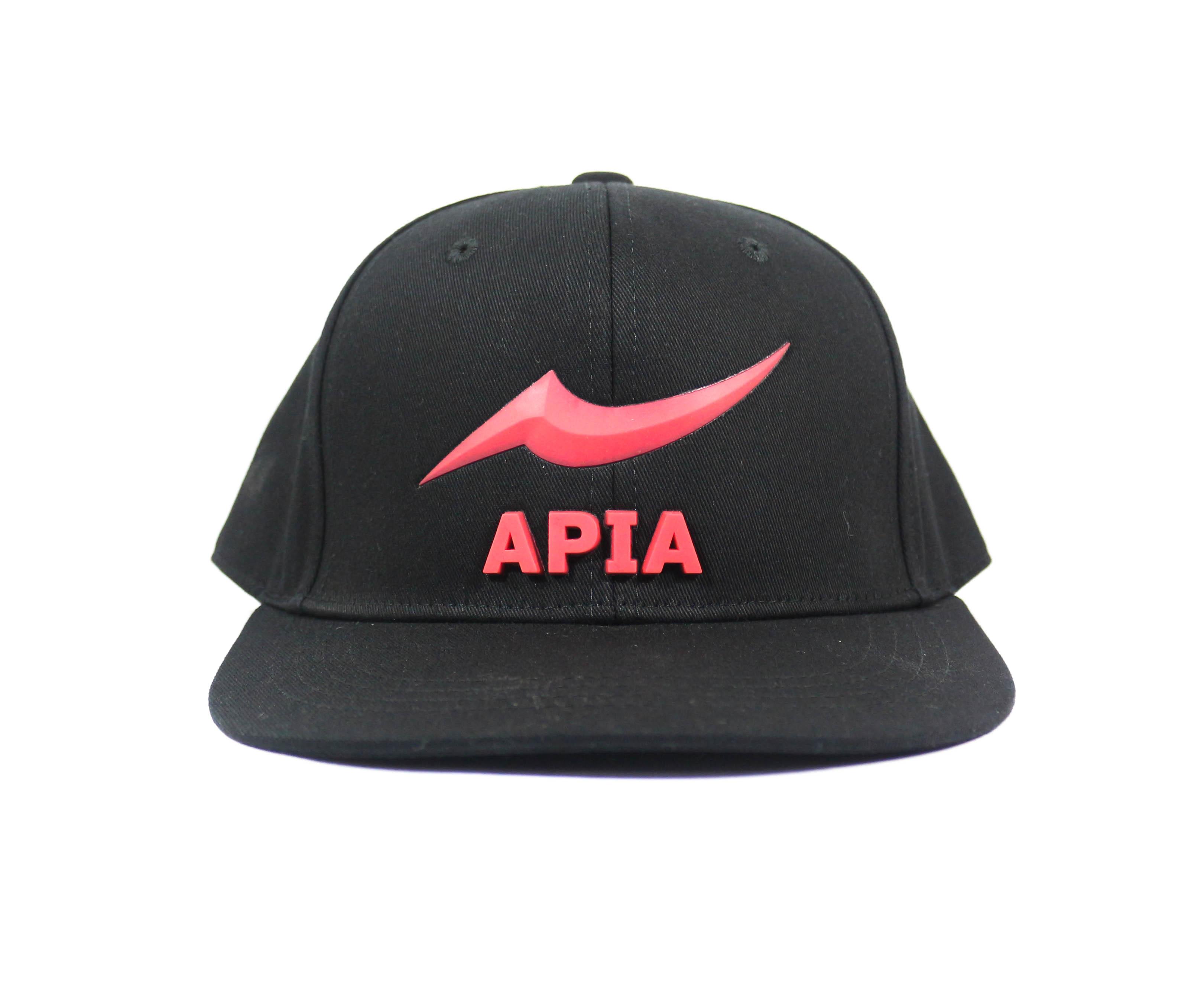 Apia Cap HF Flat-Cap Free Size Black Red (9273)