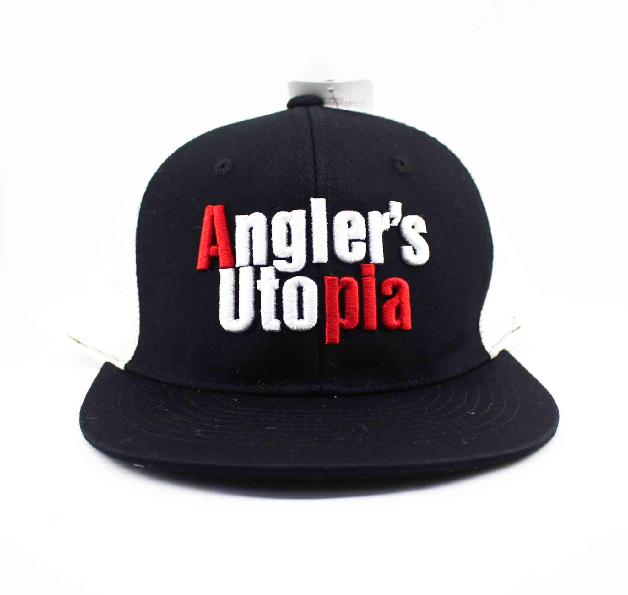 Apia Cap Flat Mesh Cap Free Size Black Red (9877)