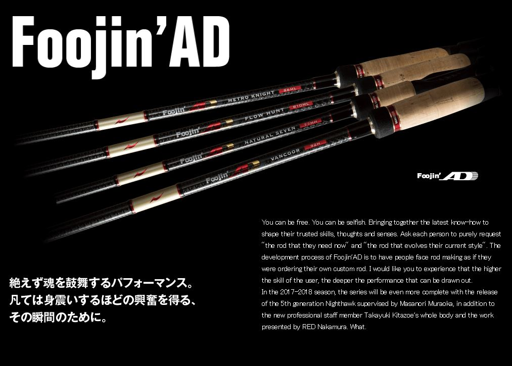 Apia Rod Spinning Foojin AD Night Hawk 93 ML (6050)