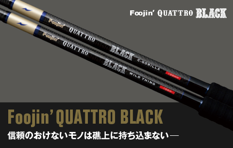 Apia Rod Spinning Foojin Quattro Black Wild Thing 100 H (7095)