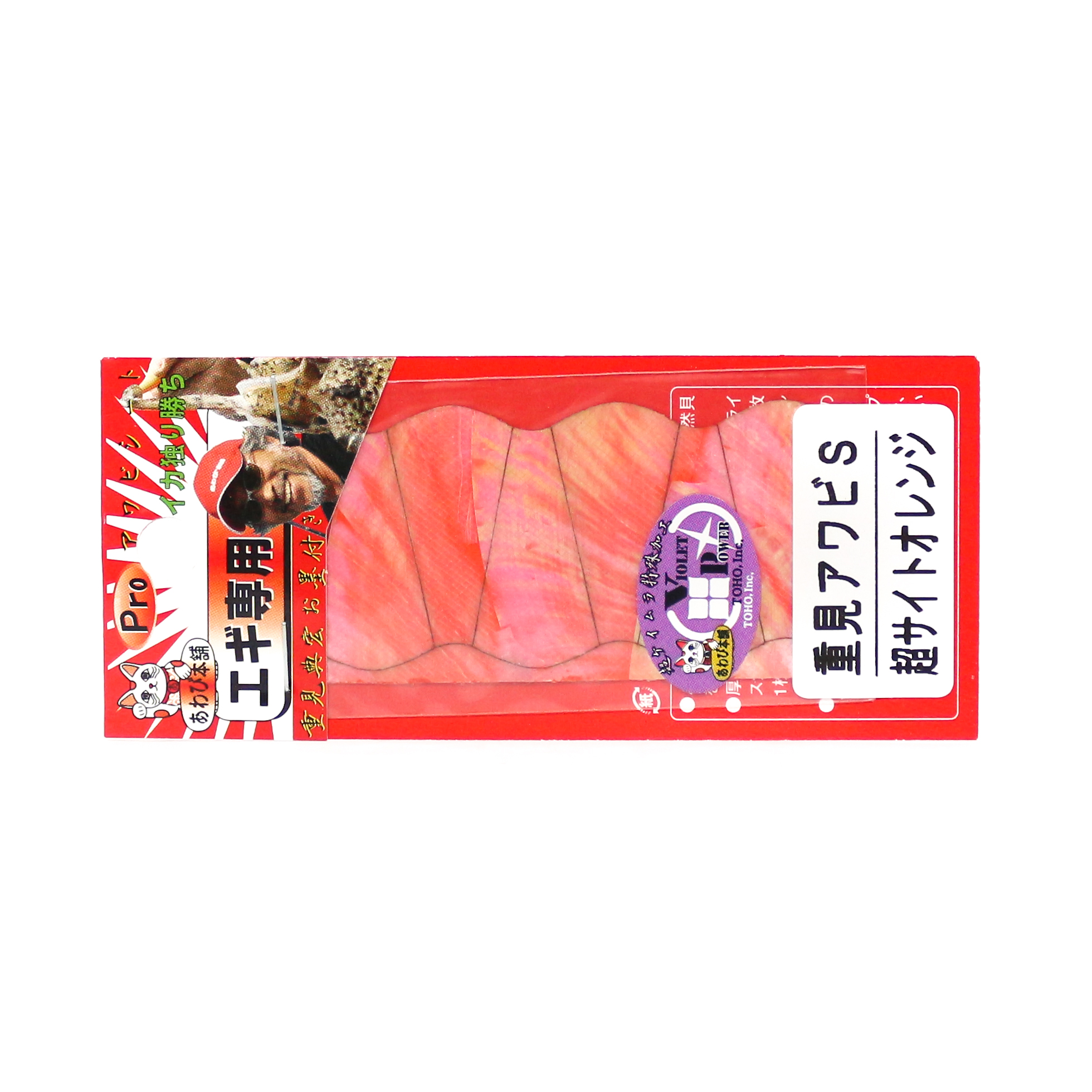 Awabi Honpo Pro Awabi Sheet Shigemi Awabi Size S 36 x 73 mm Orange (1227)