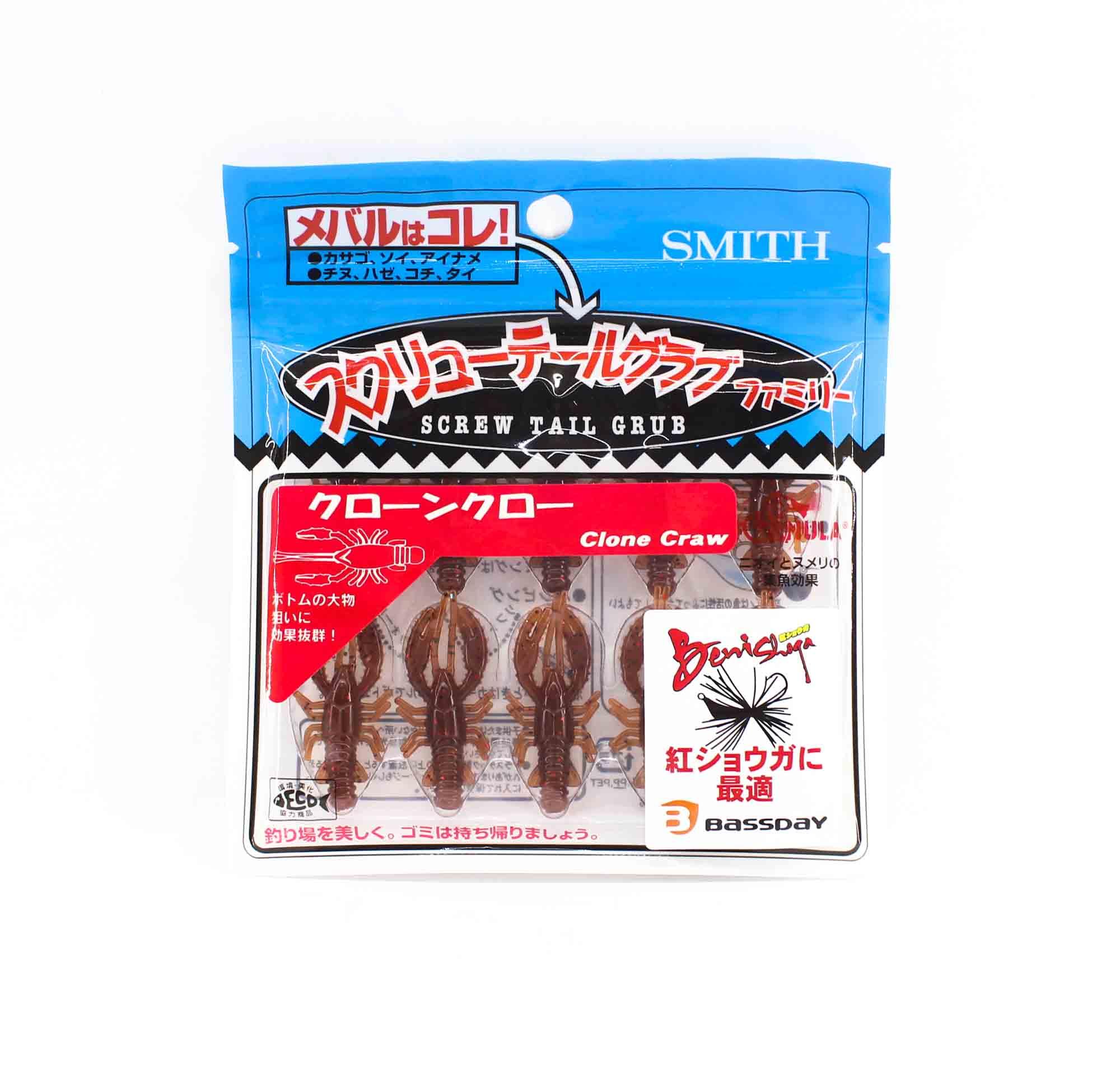 Bassday Soft Lure Clone Craw 1.5 Inch 10 Piece per pack 02 (7545)