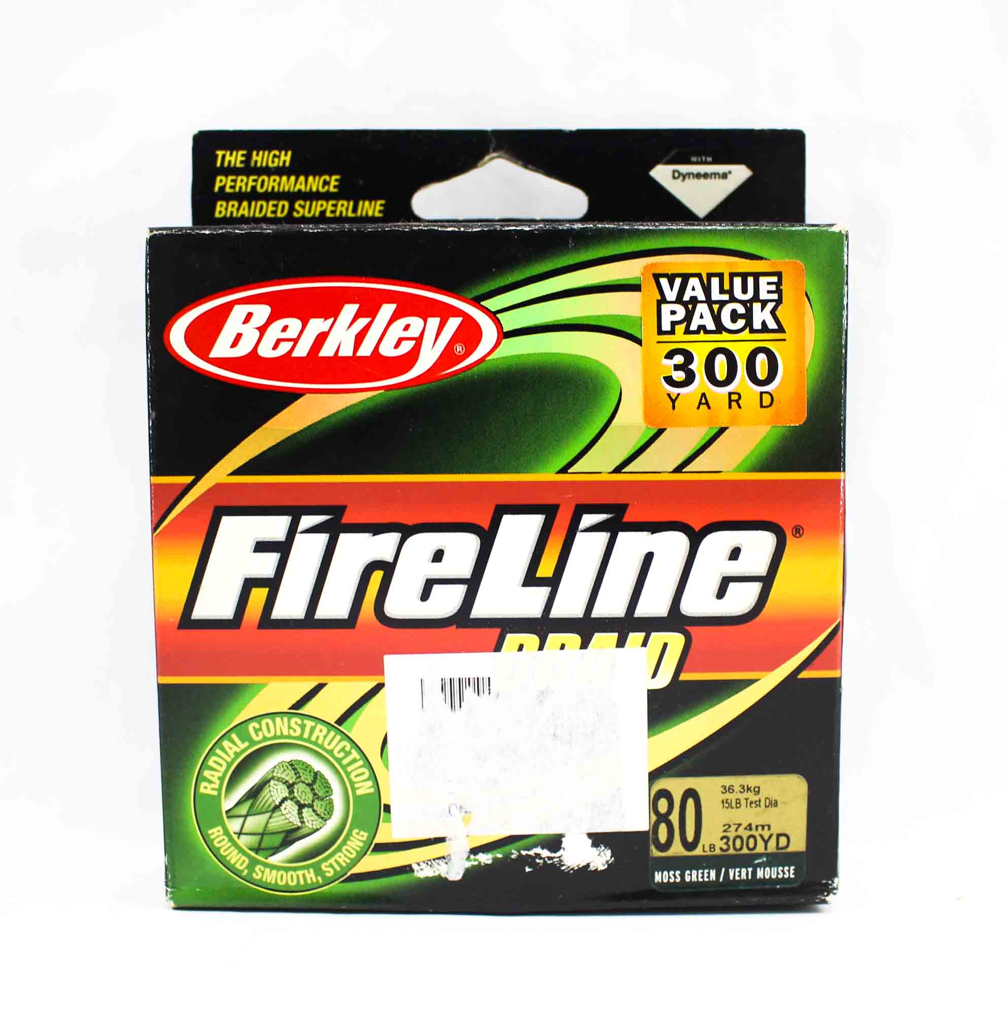 Berkley Braided Fireline 300yds 80lb Green (0014)