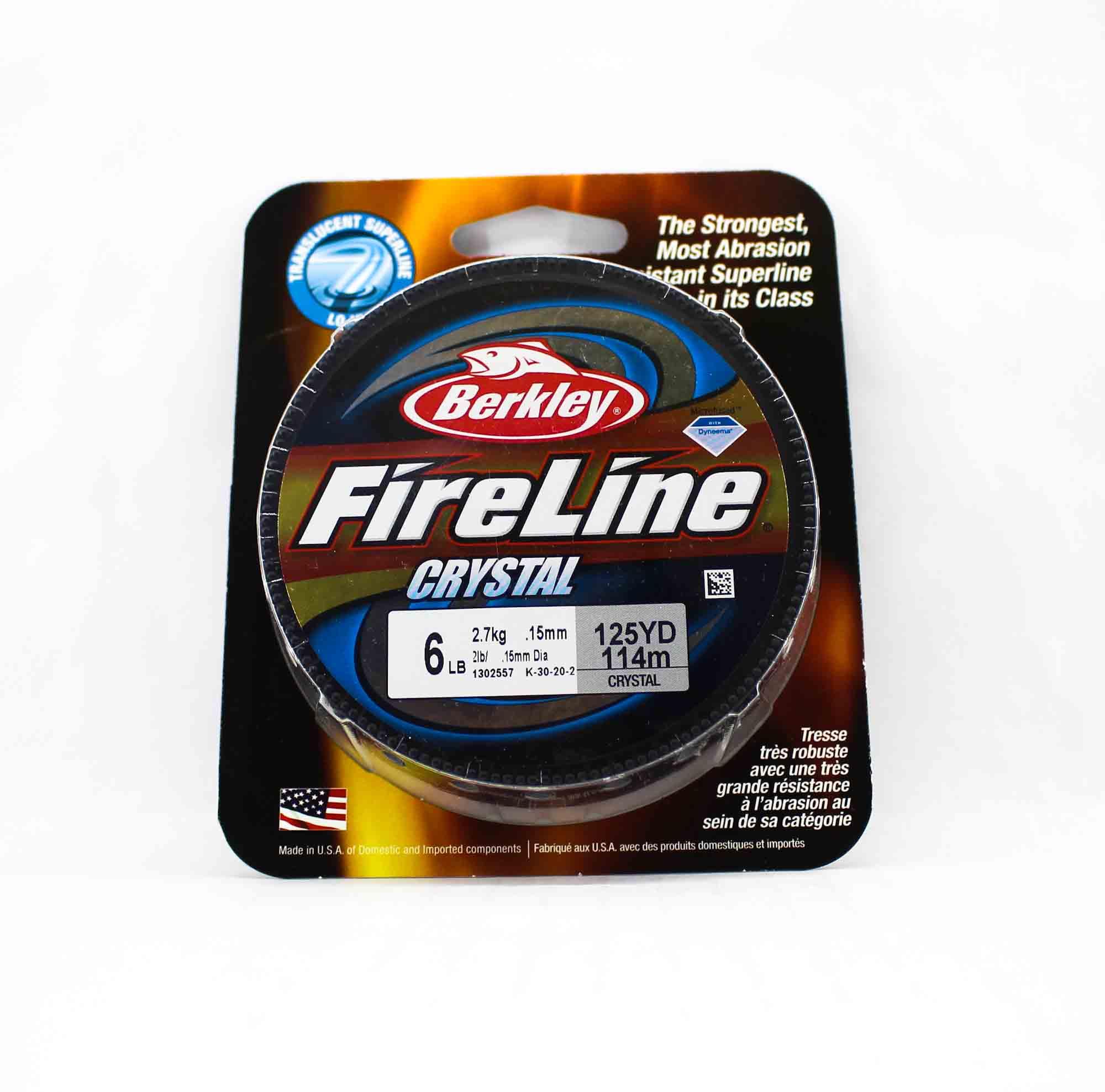Berkley Fireline Fused Crystal 125yds 6lb White (4829)