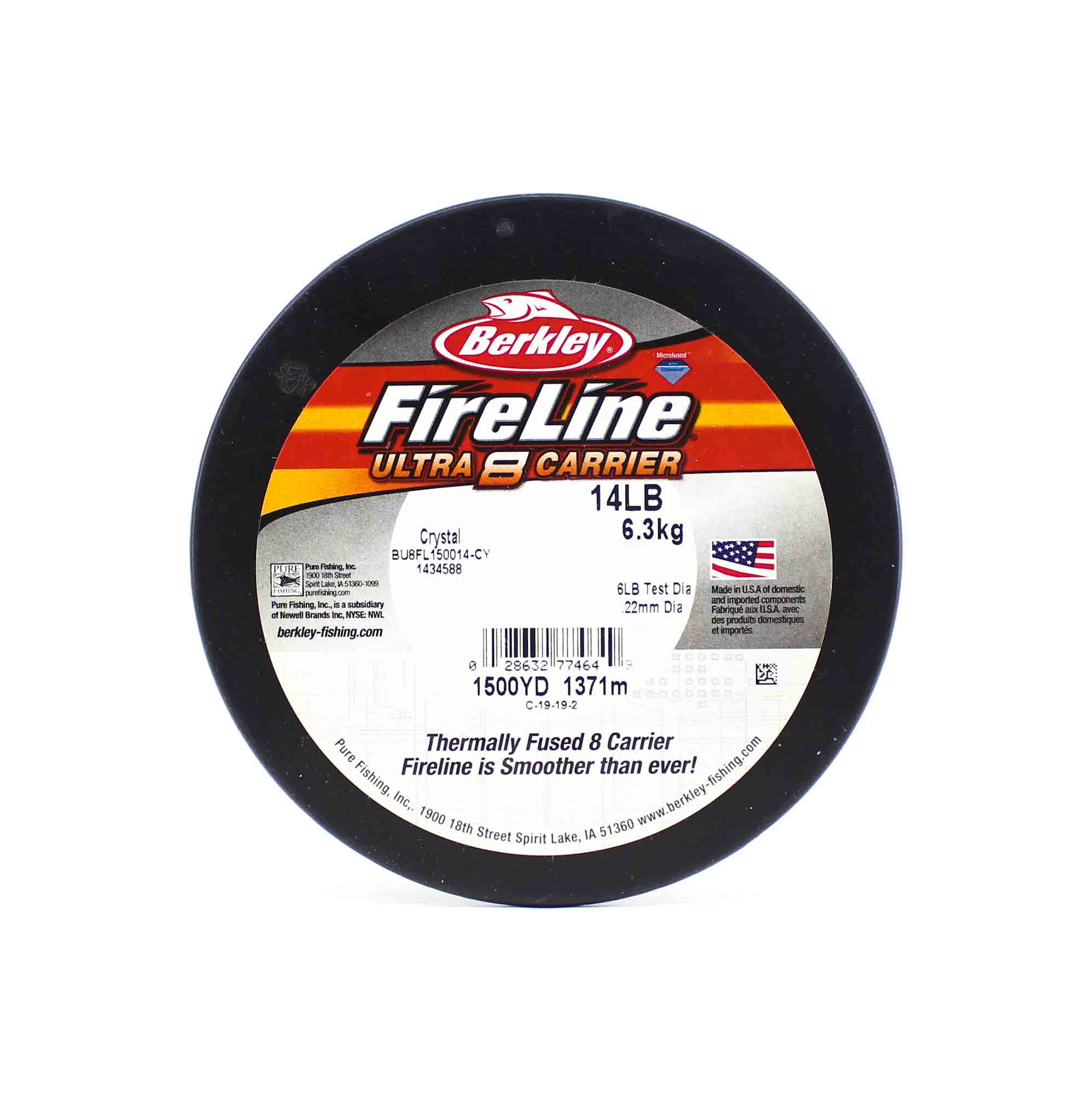 Berkley Fireline Ultra 8 Carrier 1500yds 14lb White (4649)