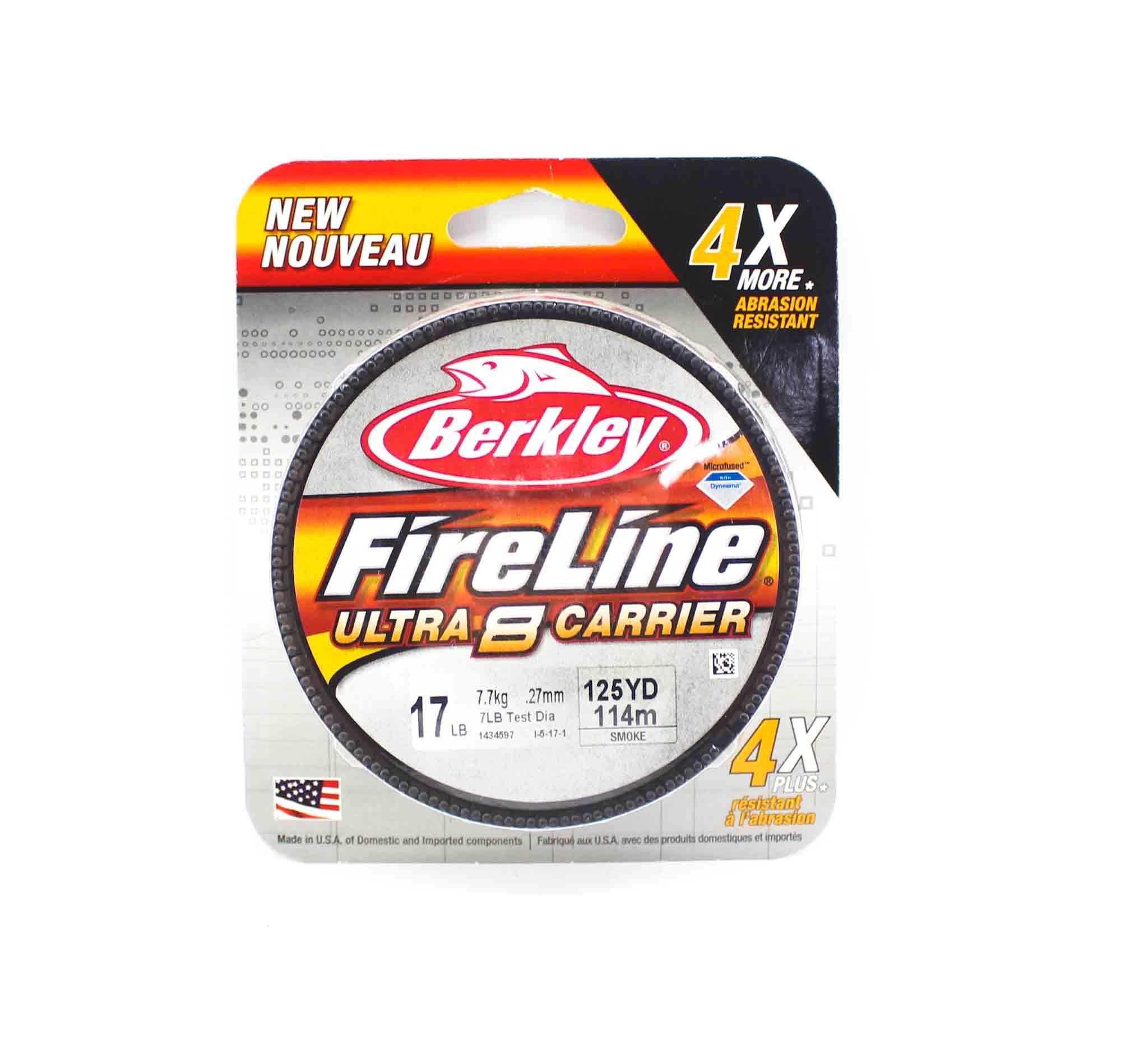 Berkley Fireline Ultra 8 Carrier 125yds 17lb Smoke (4731)