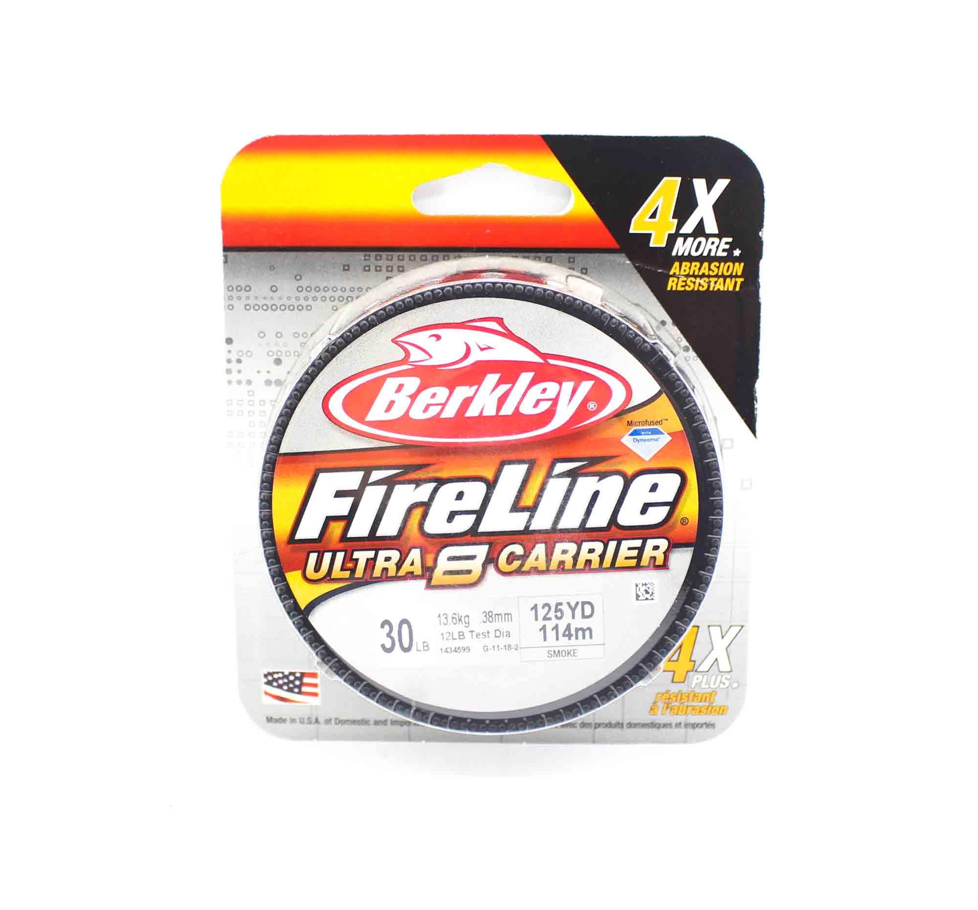 Berkley Fireline Ultra 8 Carrier 125yds 30lb Smoke (4755)