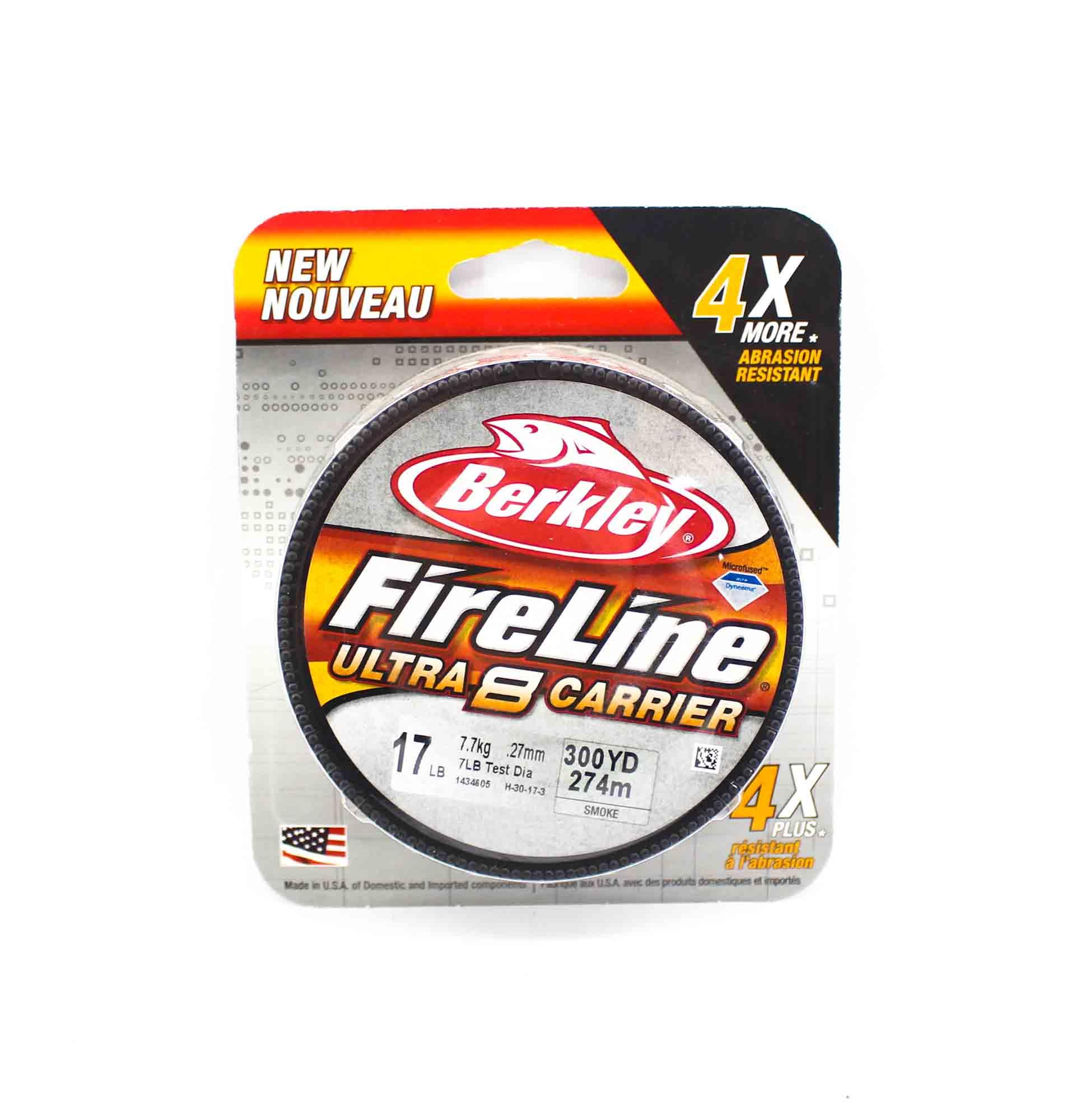 Berkley Fireline Ultra 8 Carrier 300yds 17lb Smoke (4816)
