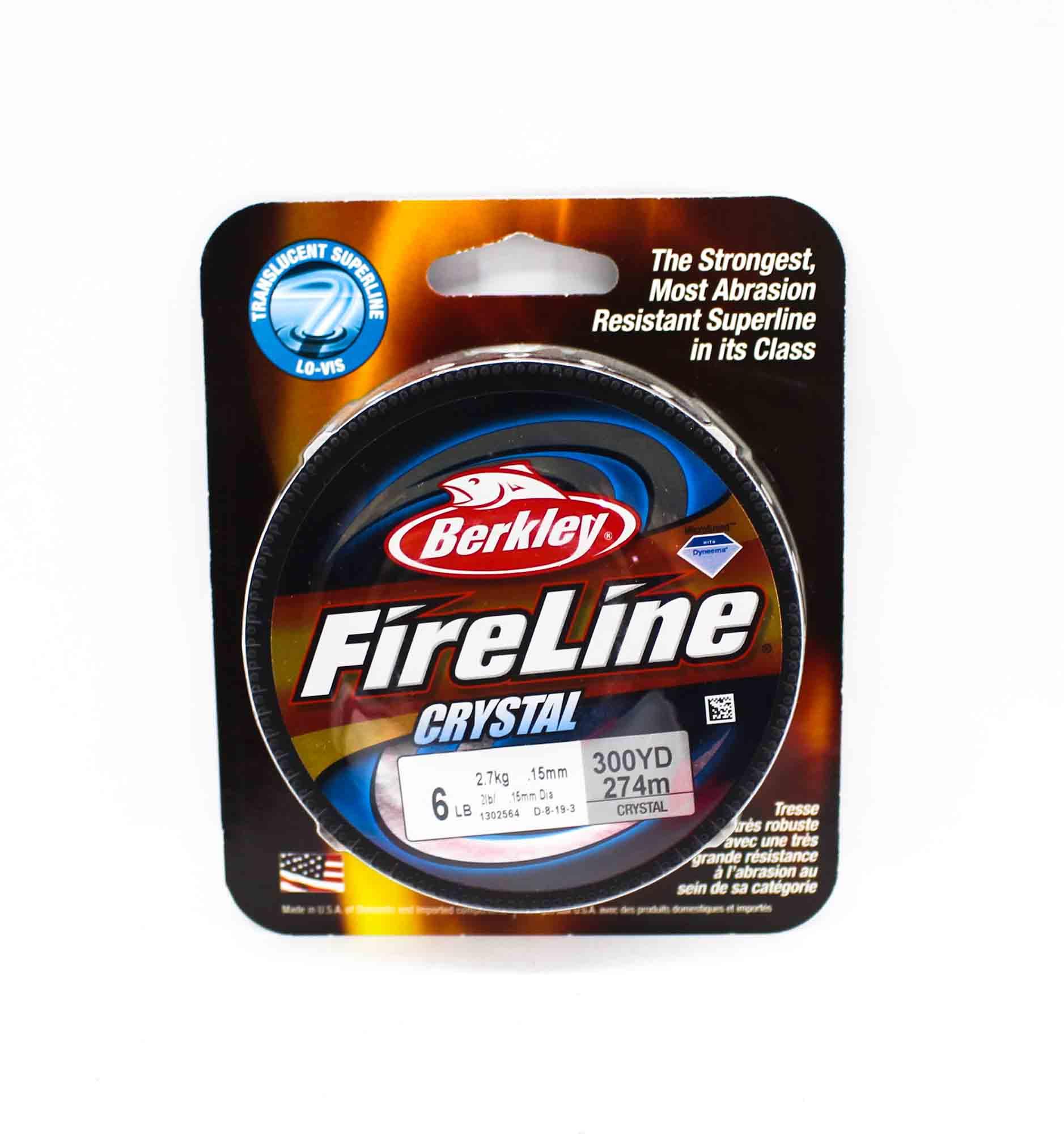Berkley Fused Fireline Crystal 300yds 6lb White (4898)