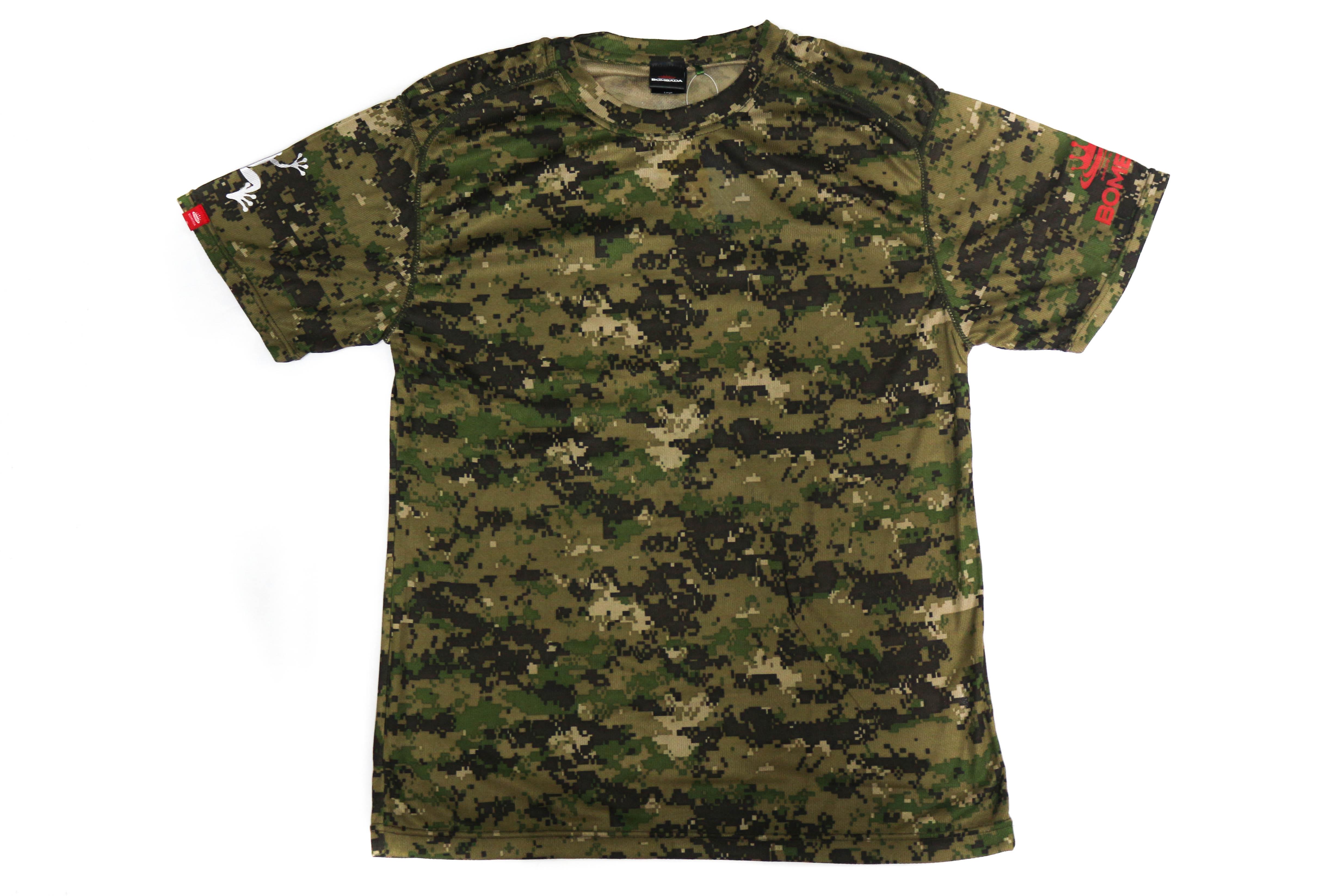 Sale Bombada T-Shirt Giant Snakehead Dry Fit Short Sleeve Size L Woodland (4103)