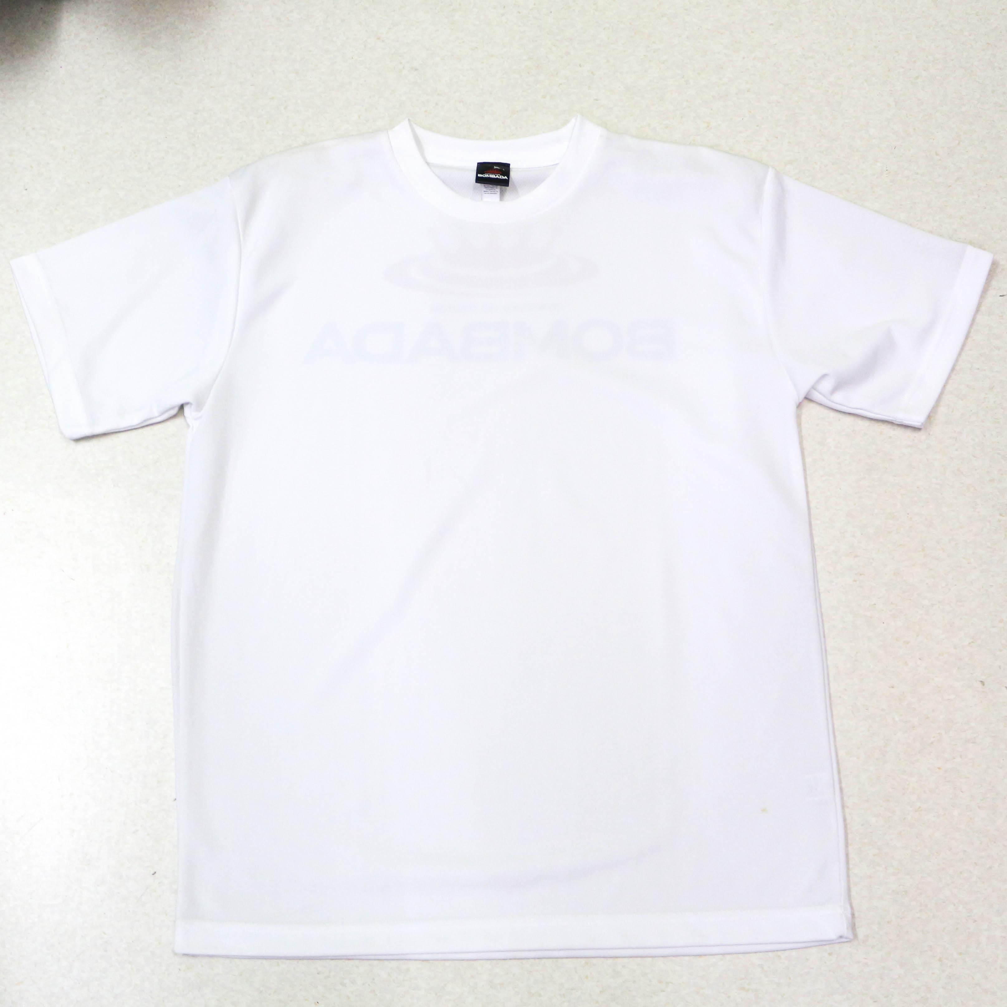 Sale Bombada T-Shirt Logo Dry Fit Short Sleeve Size L White (0140)
