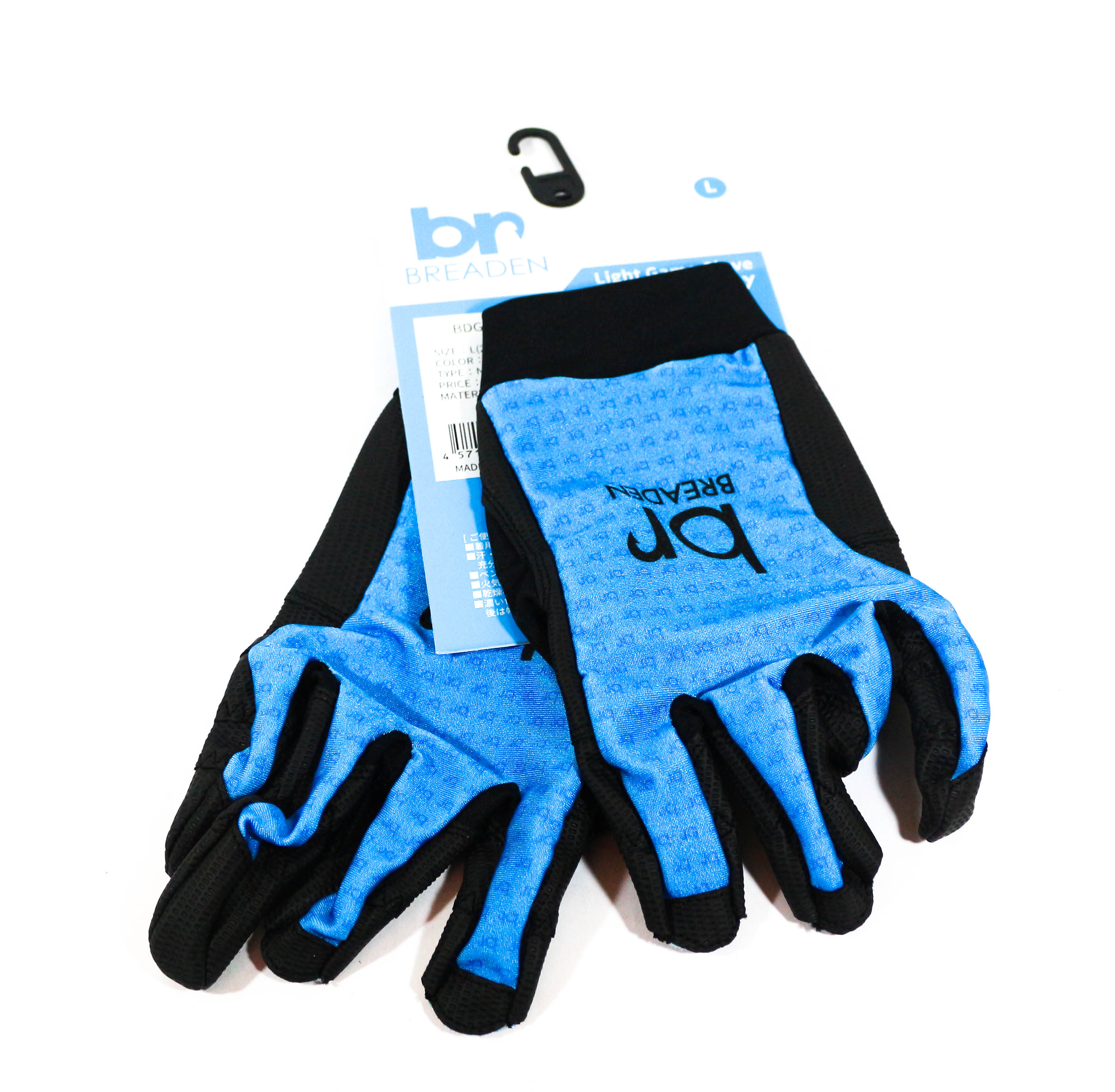 Breaden Gloves Light Game Naked 3 Evology Size L Blue (6303)