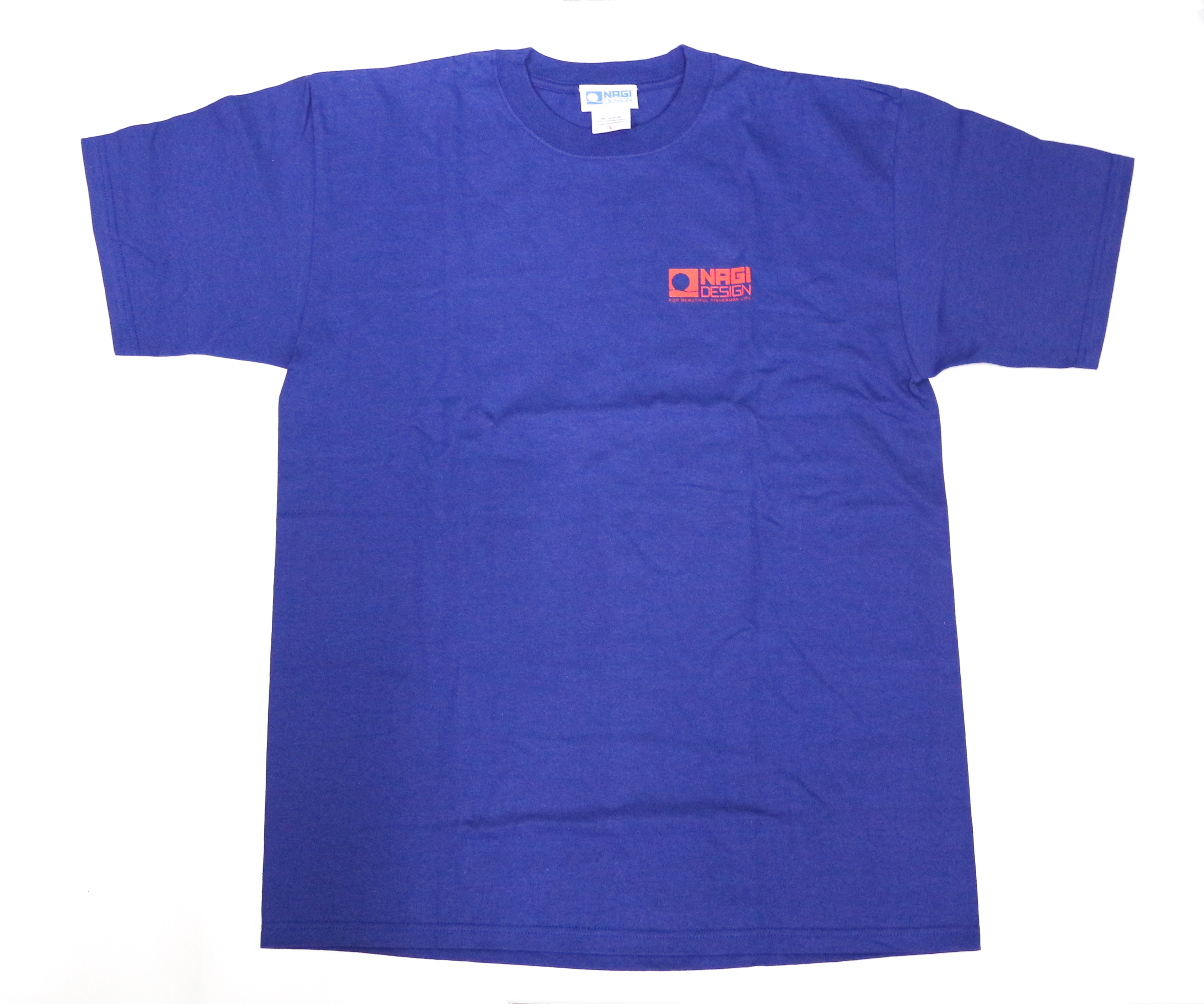 Sale CB One T-Shirt Sake Fish Motif Size L Navy (0032)