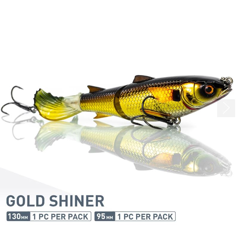 Chase Baits Soft Lure Drunken Mullet 130 mm Gold Shiner (5328)