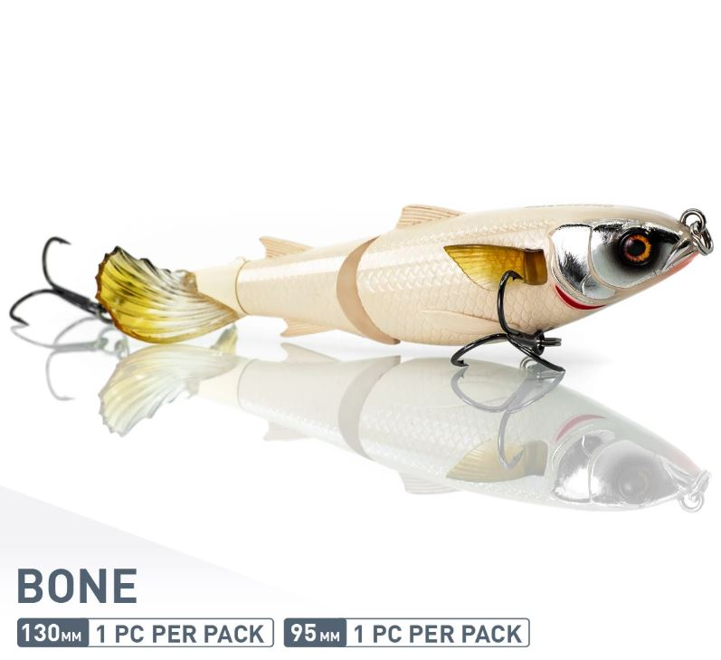 Chase Baits Soft Lure Drunken Mullet 95 mm Bone (5243)