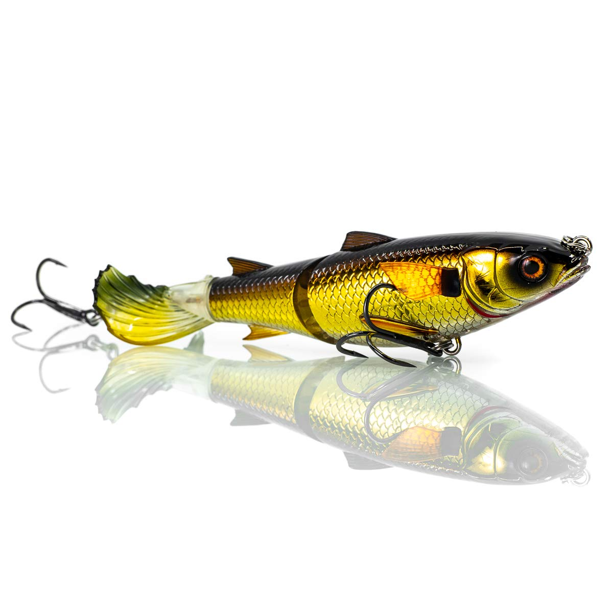 Chase Baits Soft Lure Drunken Mullet 95 mm Gold Shiner (5250)