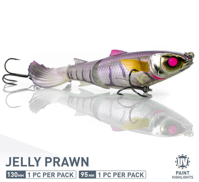 Chase Baits Soft Lure Drunken Mullet 95 mm Jelly Prawn (5281)