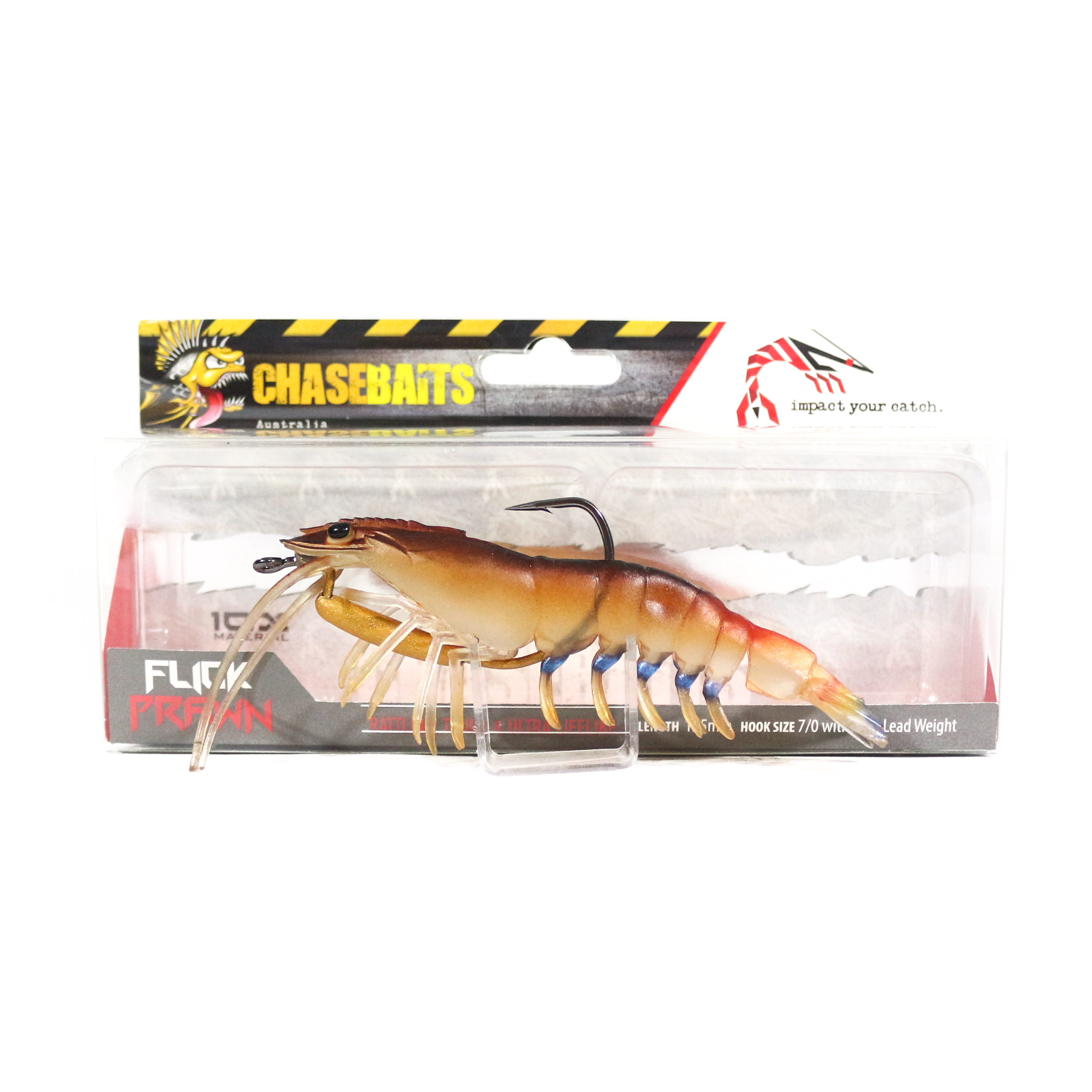 Chase Baits Soft Lure Flick Prawn 125 mm Native Prawn (4826)