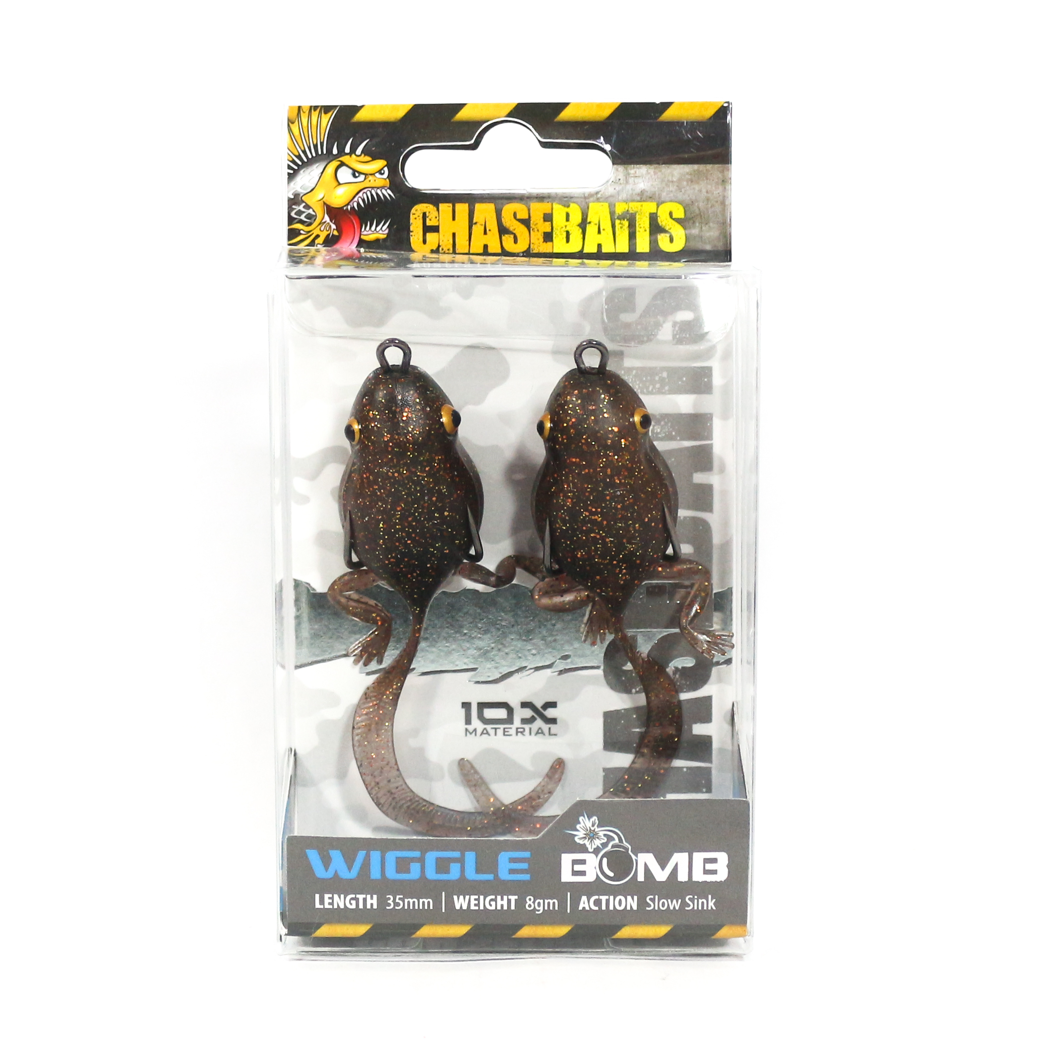 Chase Baits Soft Lure Wiggle Bomb 35 mm 8 grams Sinking Lure Bronze (4048)