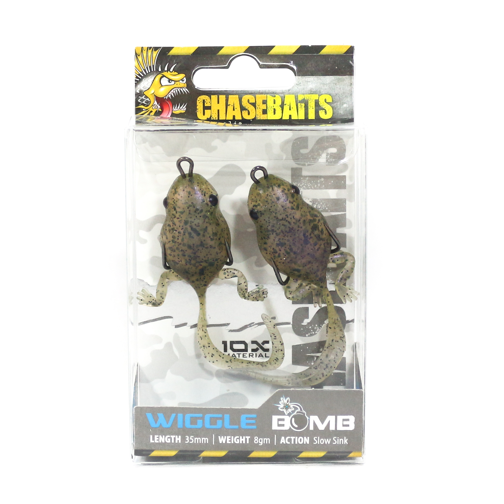 Chase Baits Soft Lure Wiggle Bomb 35 mm 8 grams Sinking Lure Toad (4062)