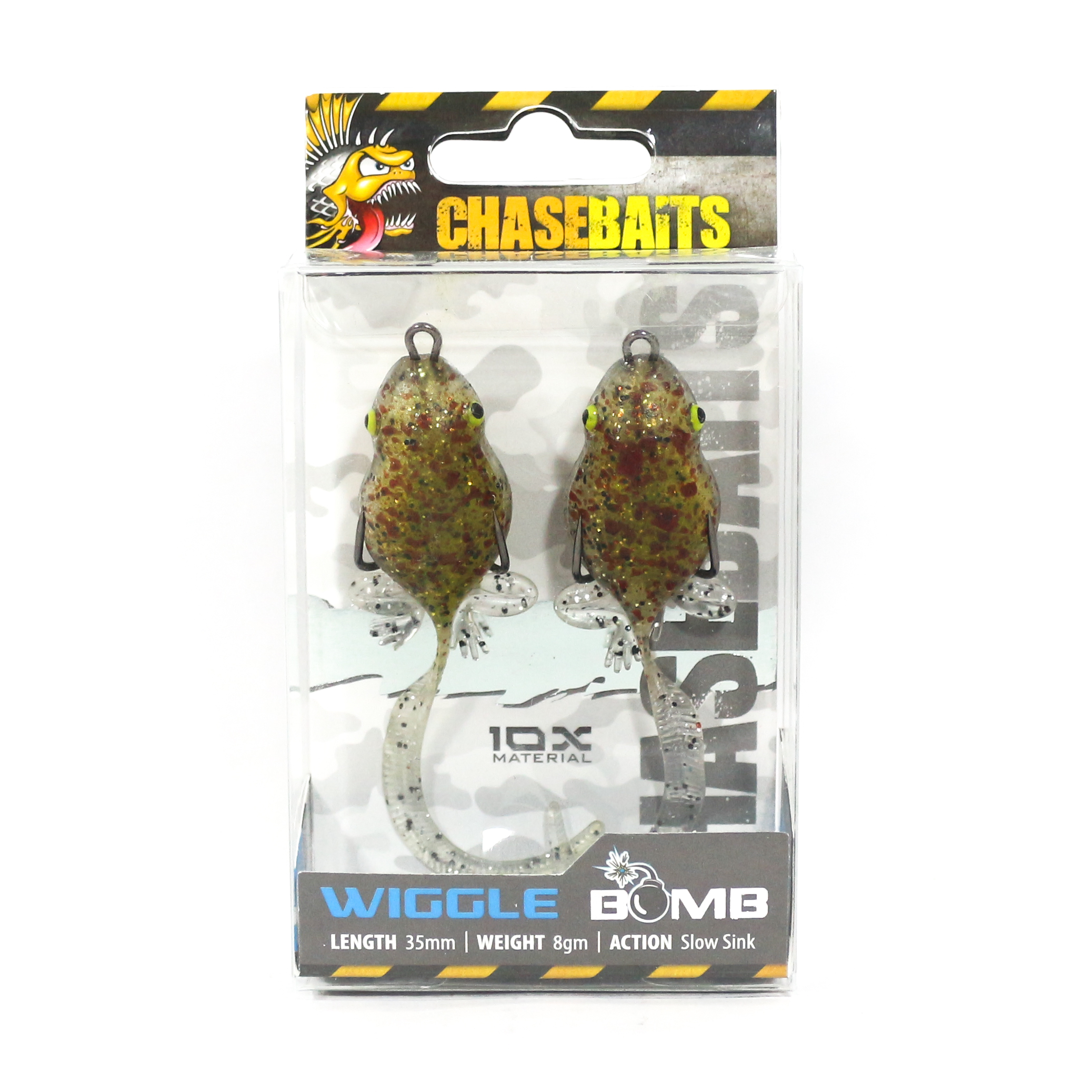 Chase Baits Soft Lure Wiggle Bomb 35 mm 8 grams Sinking Lure Ice (4079)