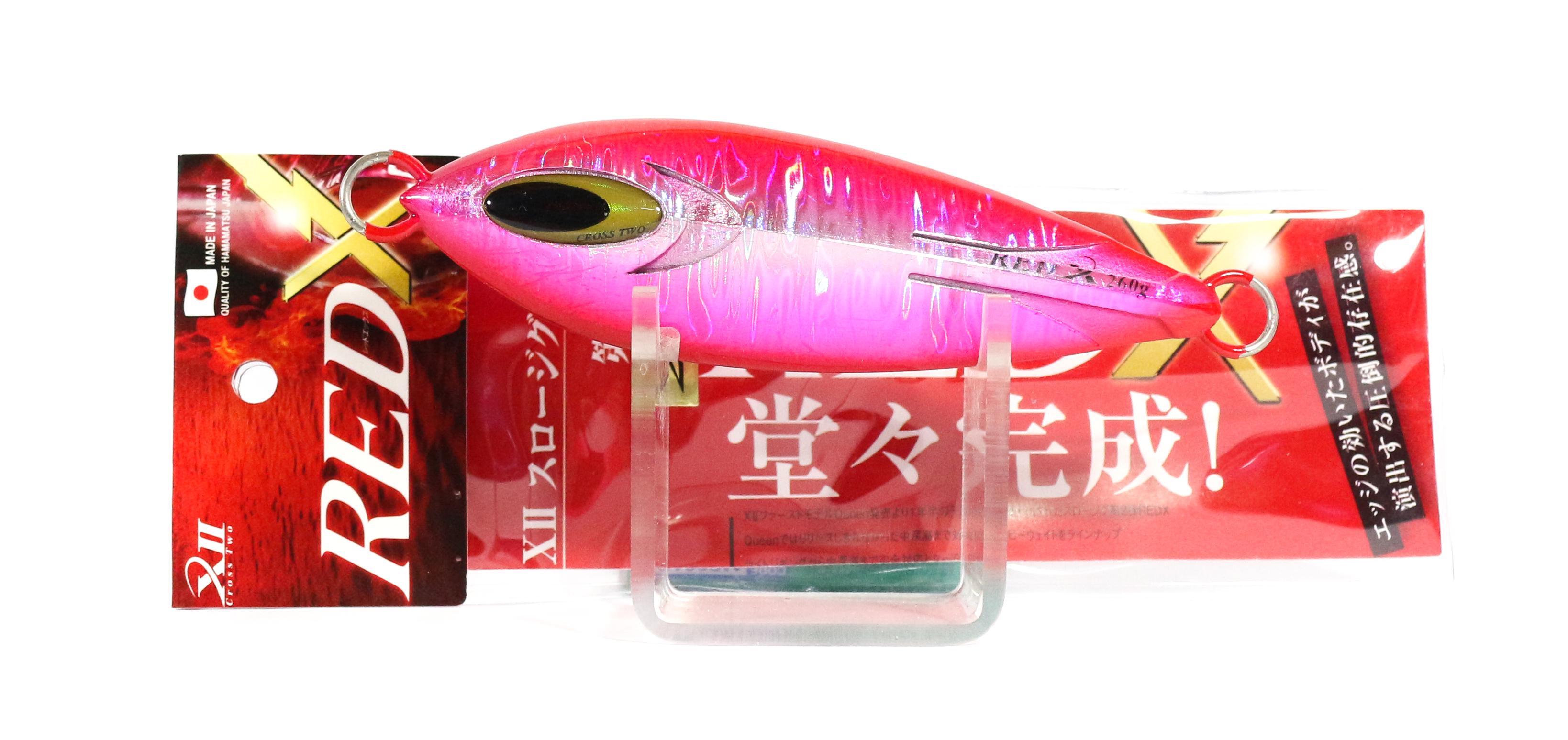Sale Cross 2 Metal Jig Red X Slow 200 grams Red Pink (0160)