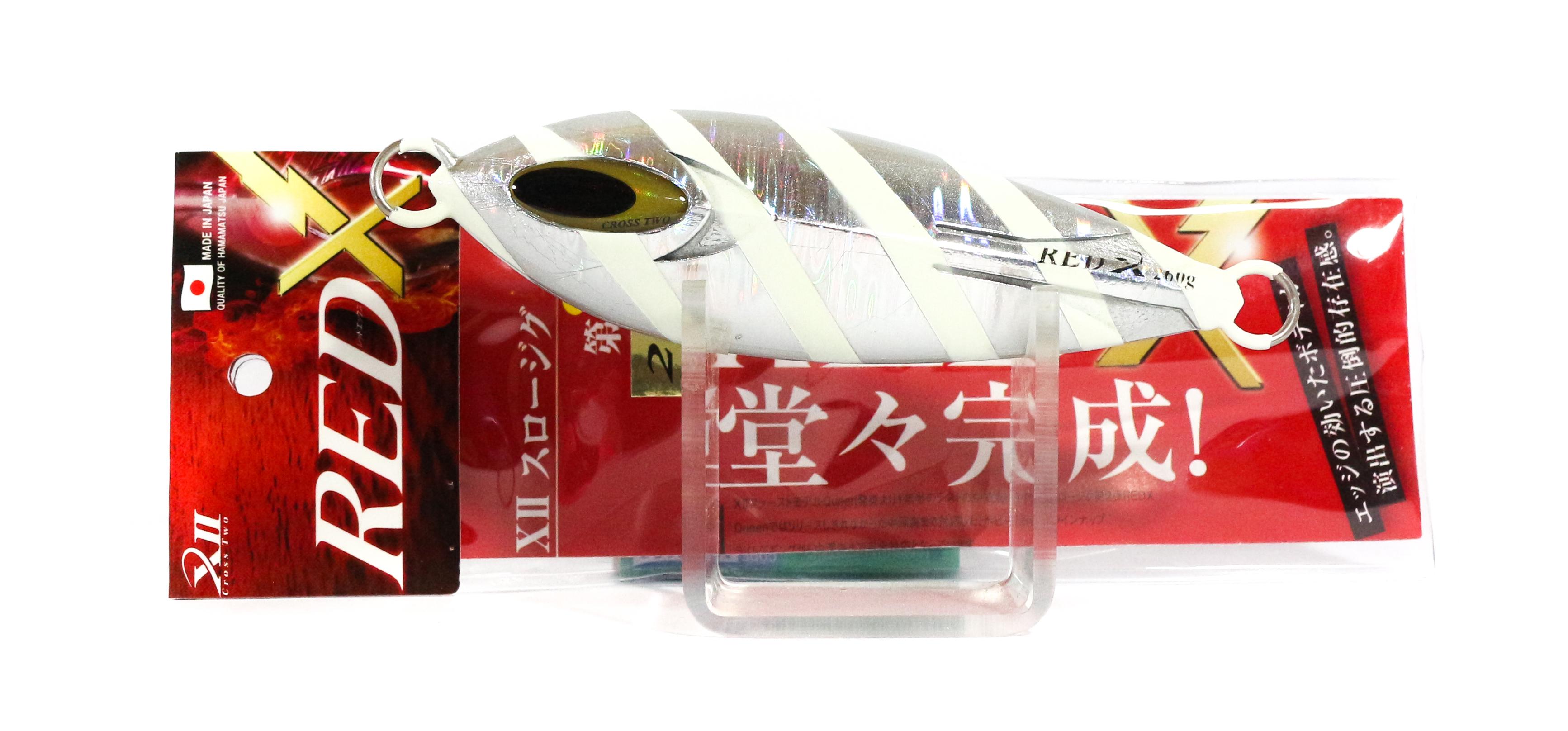 Sale Cross 2 Metal Jig Red X Slow 200 grams Silver Zebra Glow (0207)