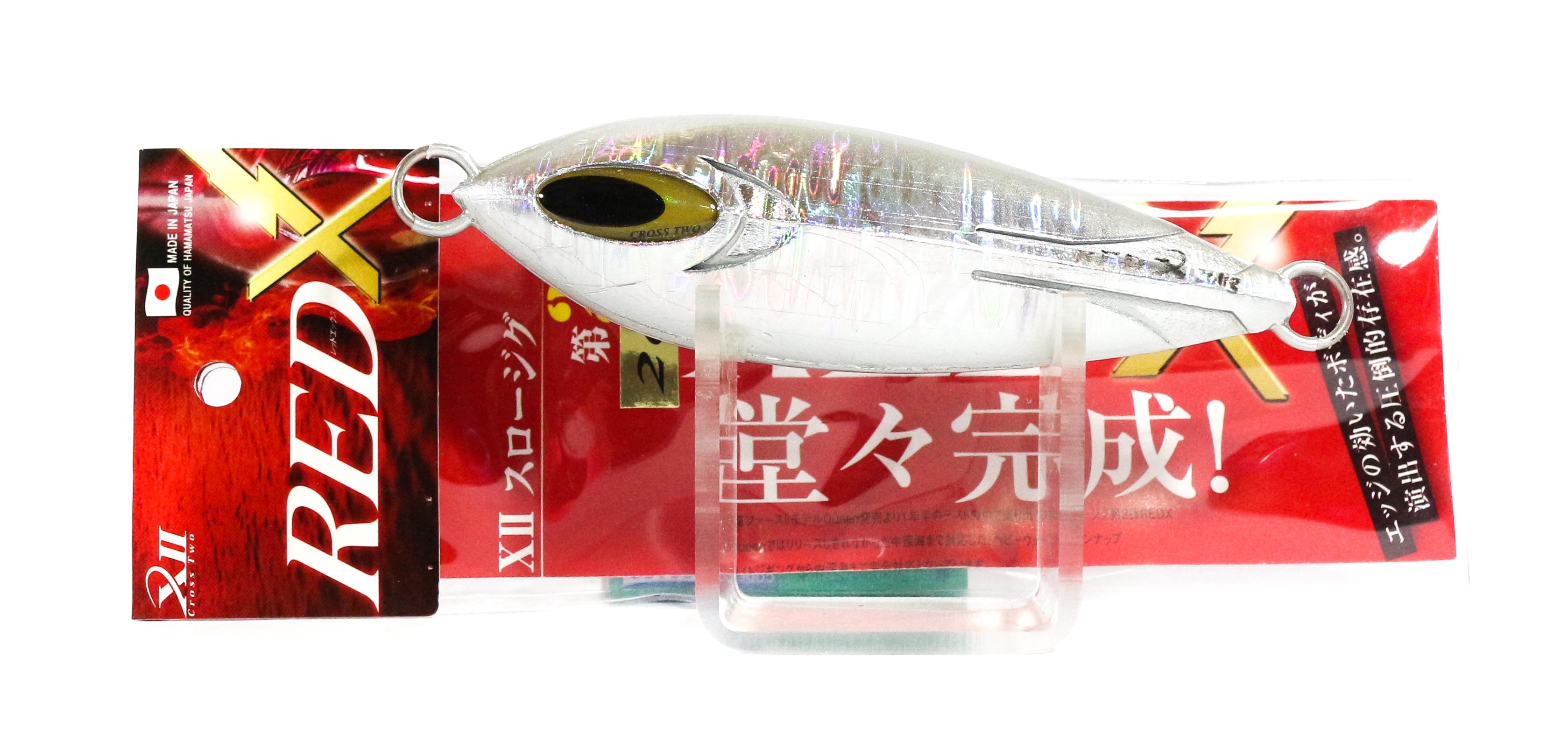 Sale Cross 2 Metal Jig Red X Slow 260 grams Silver (0221)