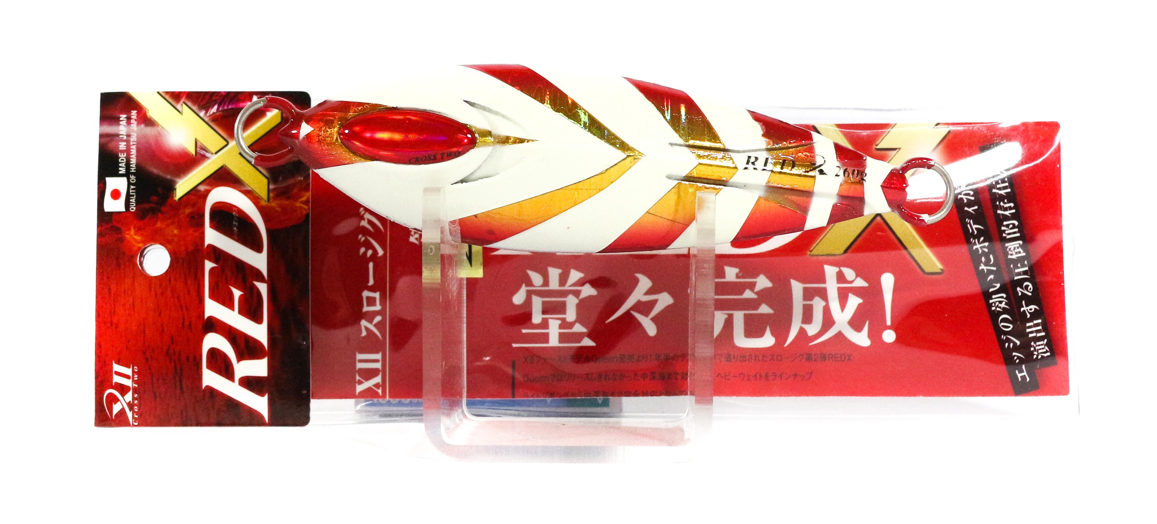 Sale Cross 2 Metal Jig Red X Slow 260 grams Akakin Zebra Glow (0290)