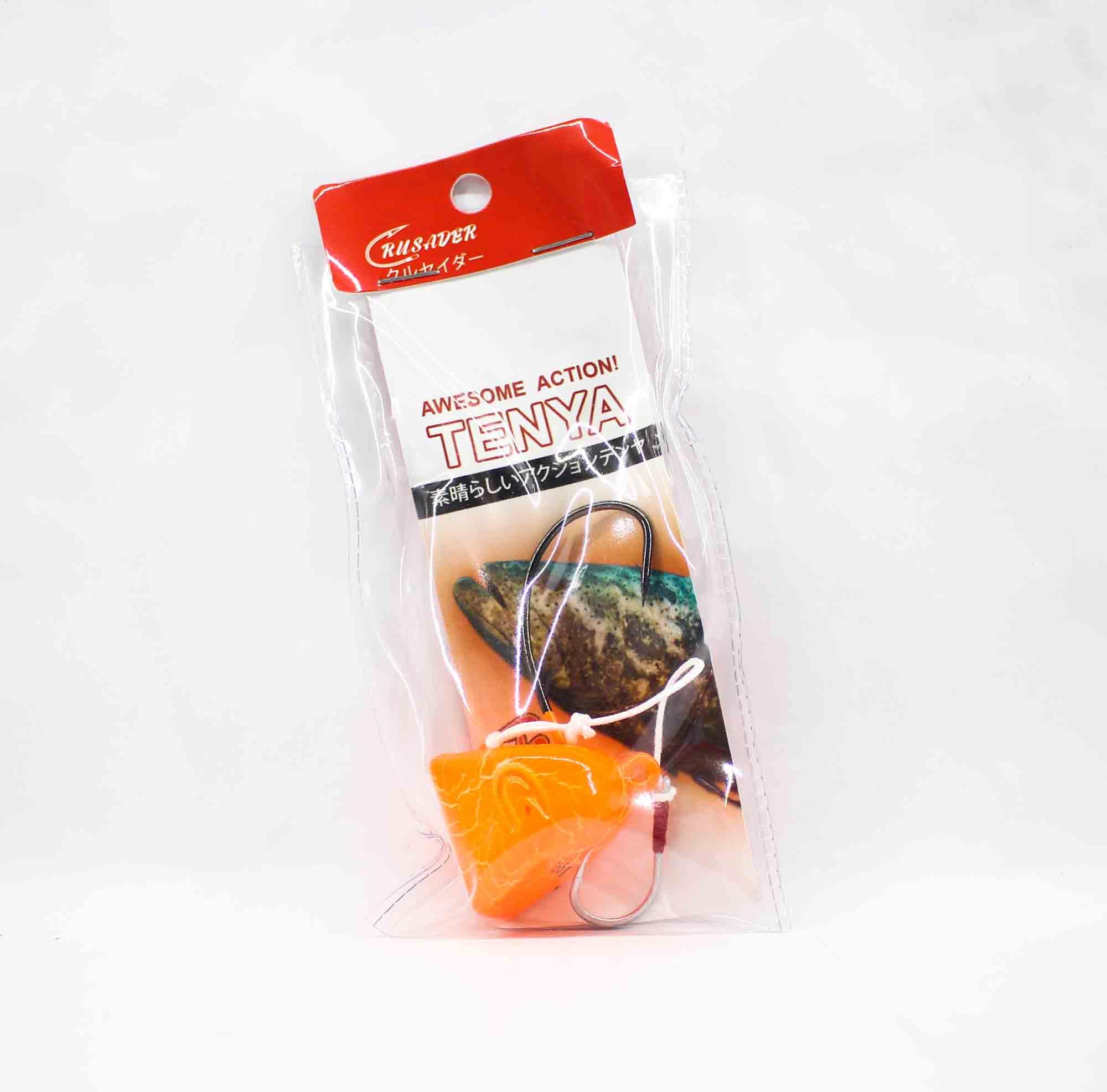 Crusader Tenya Bait Rig 165 grams Curve Hook Orange Crackle Glow (3038)