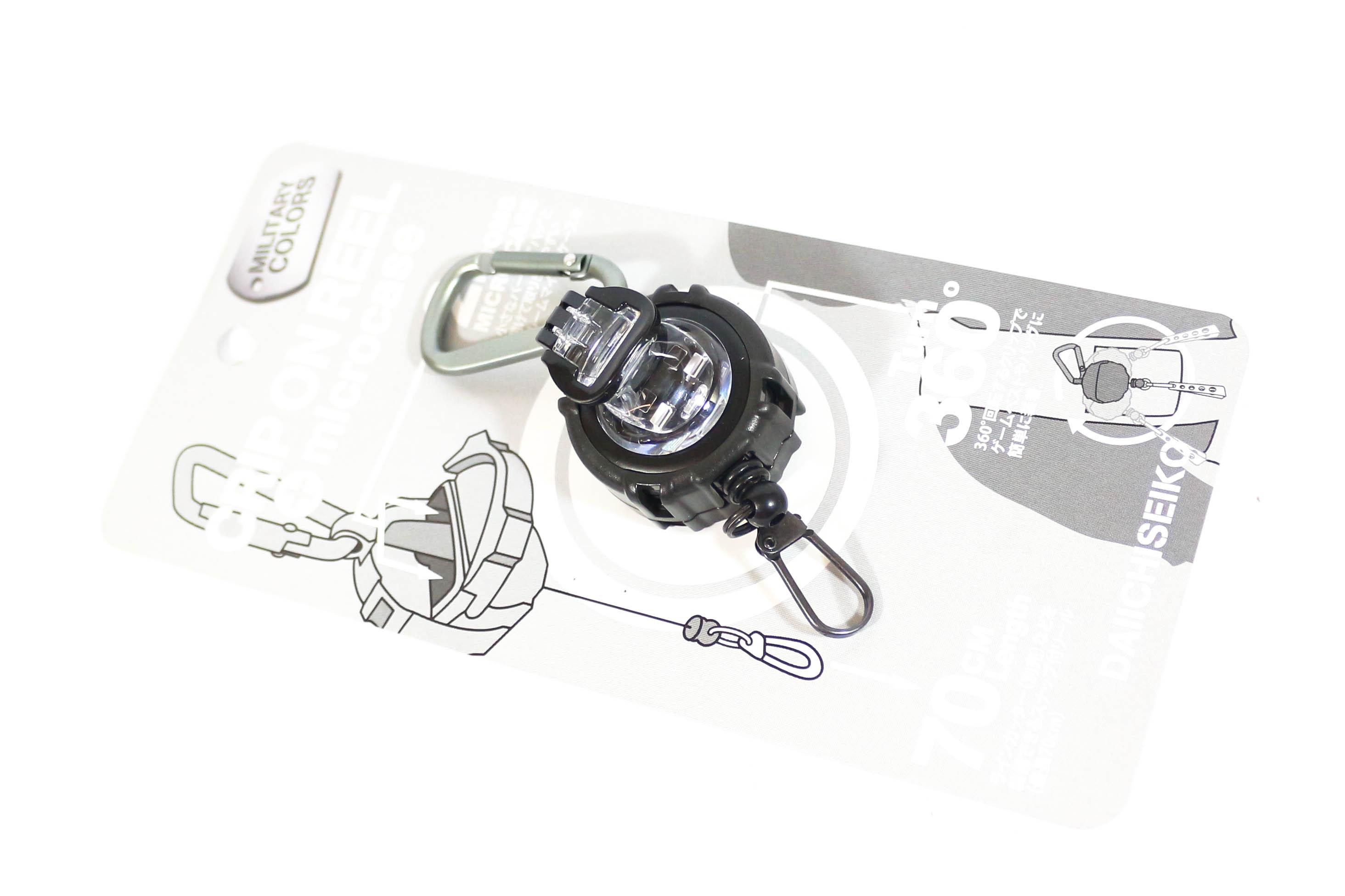 Daiichi #32151 Clip on Reel Micro Case Carabiner Black (1516)