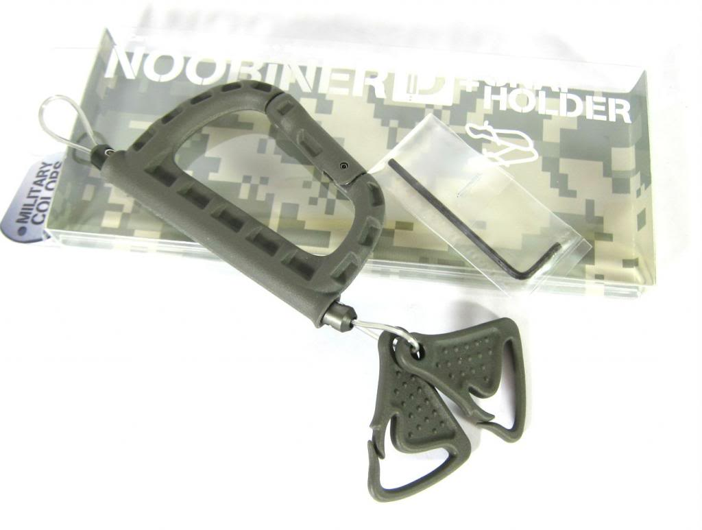 Daiichi #32136 Noobiner D Carabiner Safety Rope with Snap Holder Green (1363)