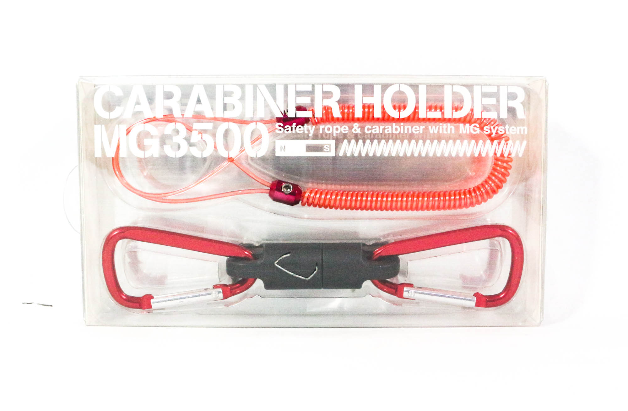 Daiichi #33272 Safety Rope CarabinerMG 3500 Magnet System 3.5 Kg Red (2727)