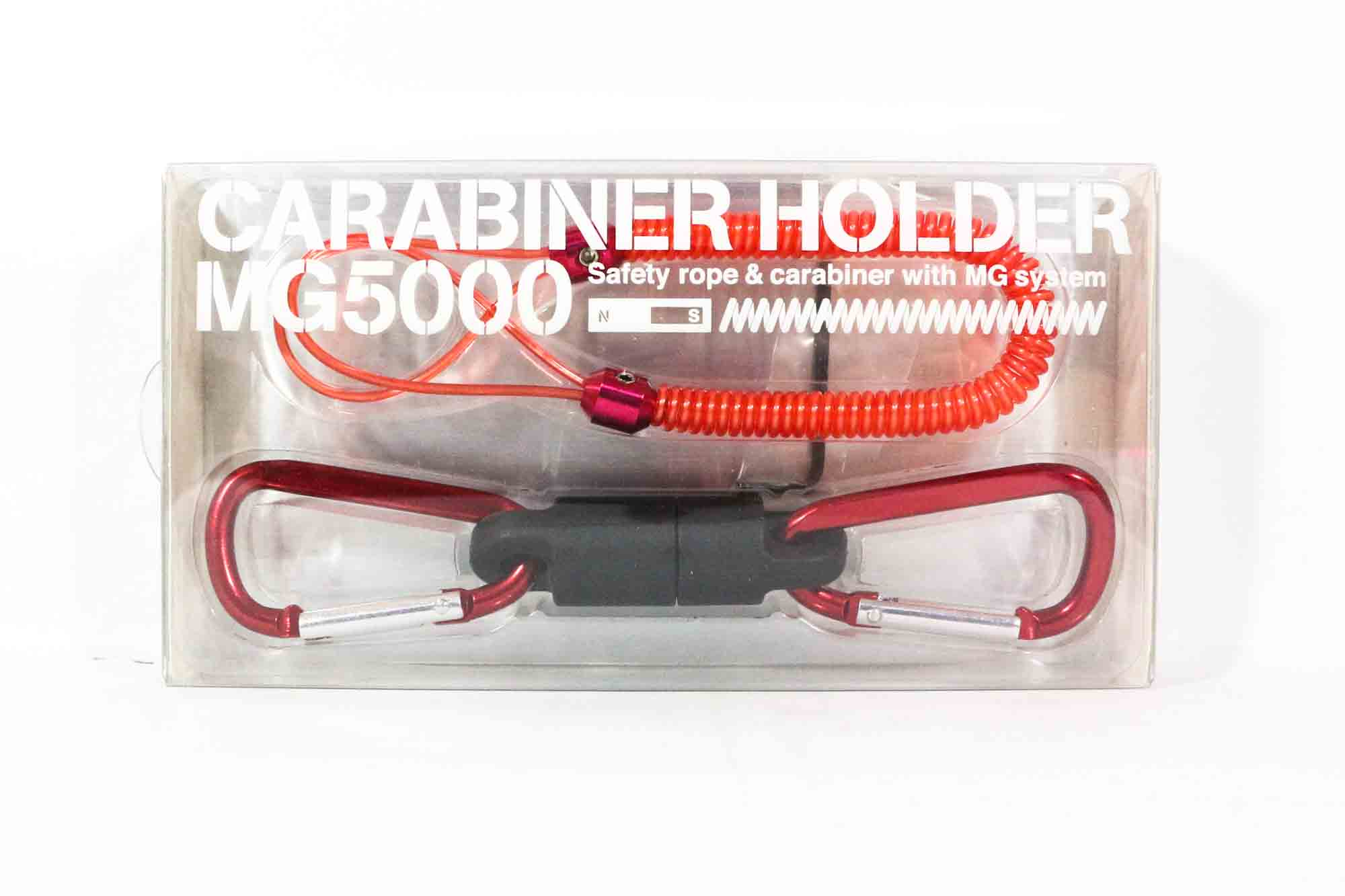 Daiichi #33268 Safety Rope Carabiner MG 5000 Magnet System 5 Kg Red (2680)