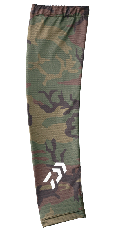Sale Daiwa DG-7707 Arm Sleeves High Quality Size L Green Camo 256957