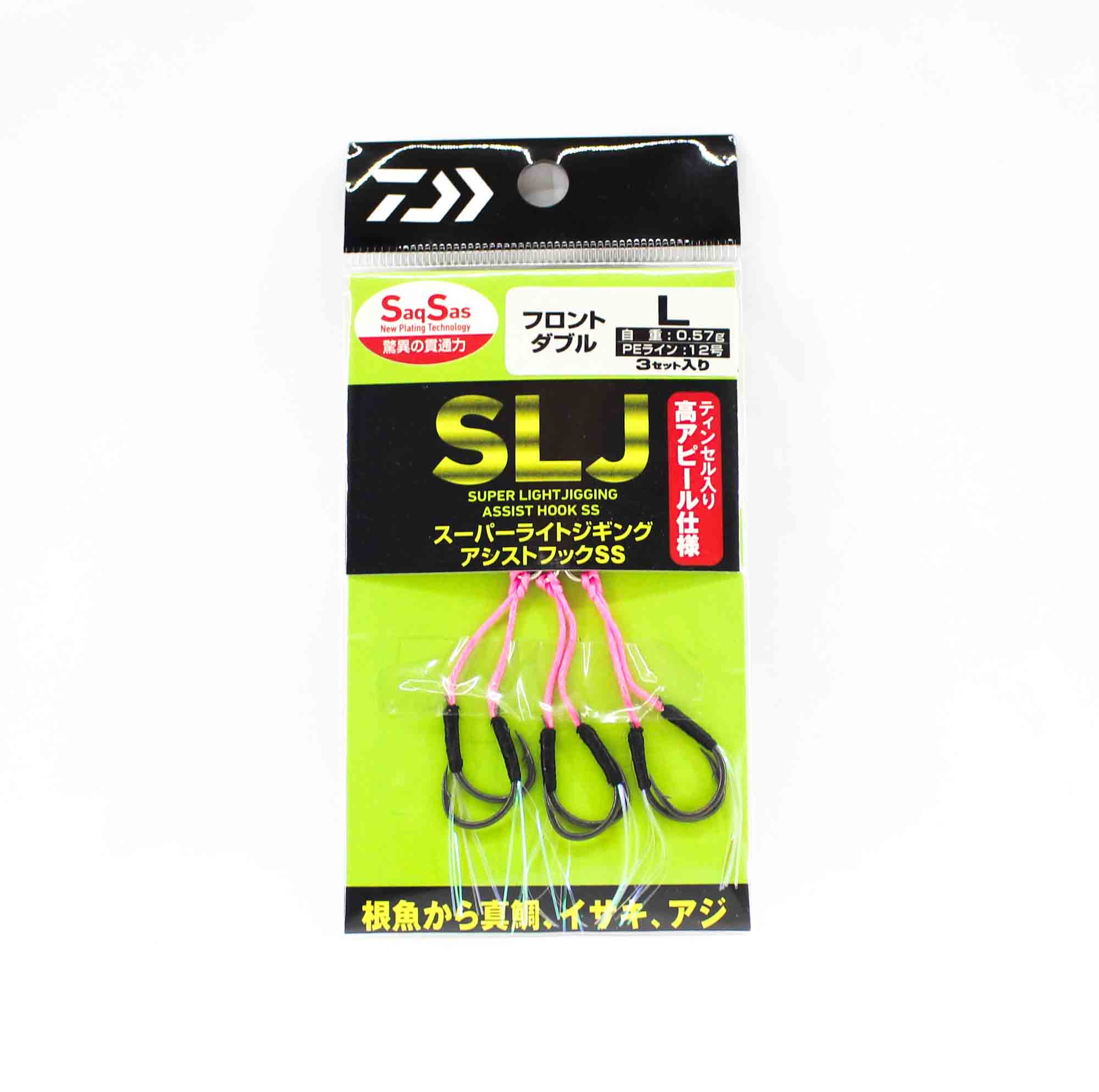 Daiwa Super Light Jigging Assist Hooks SS F Double Size L (2841)