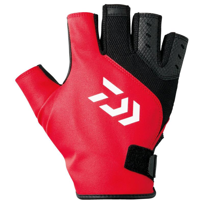 Sale Daiwa DG-2107 Fingerless Gloves Casting High Grip Size L Red Bk 256346