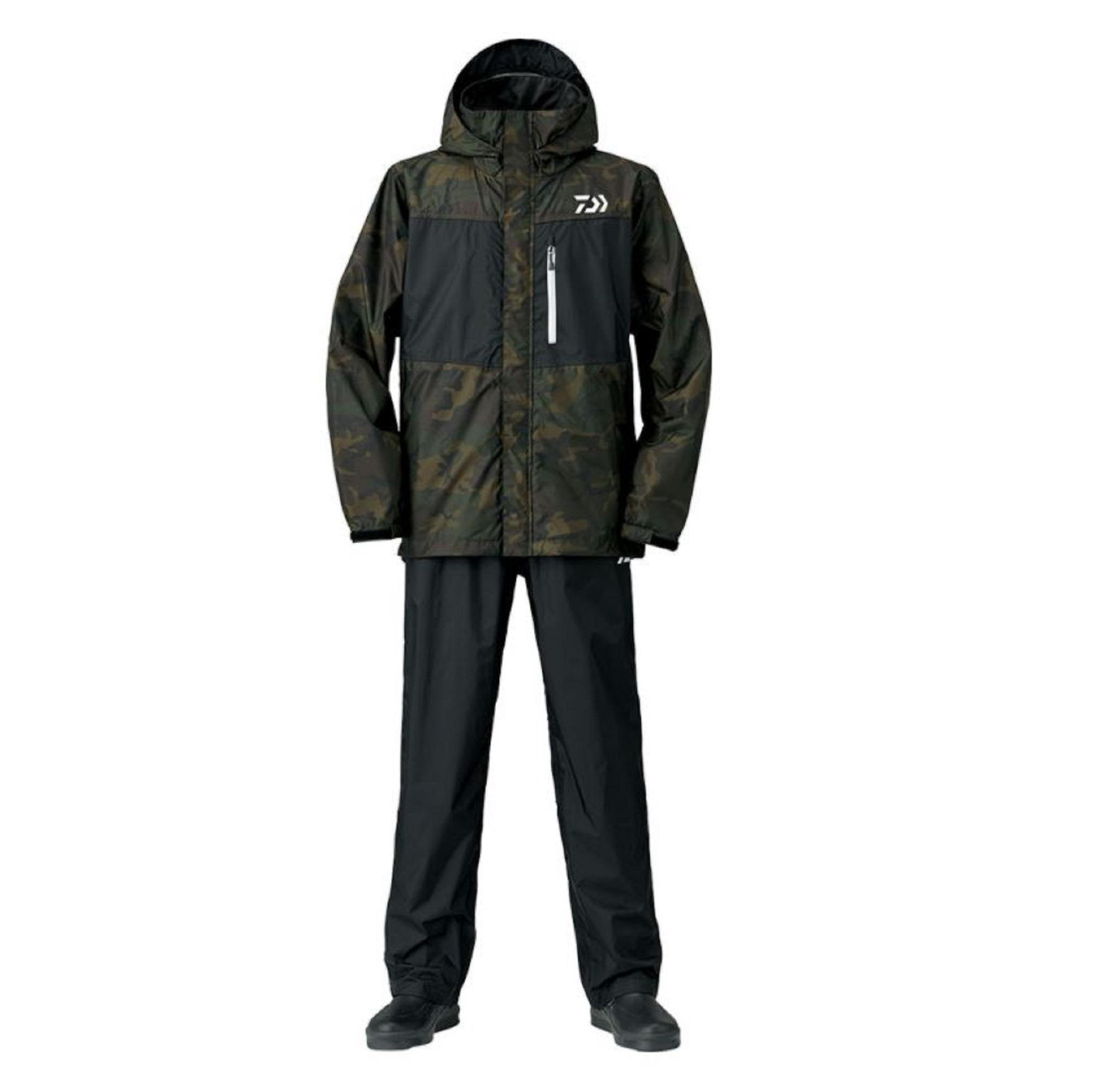 Daiwa DR-3621 Rainmax Water Repellent Jacket Size L Green Camo (6220)