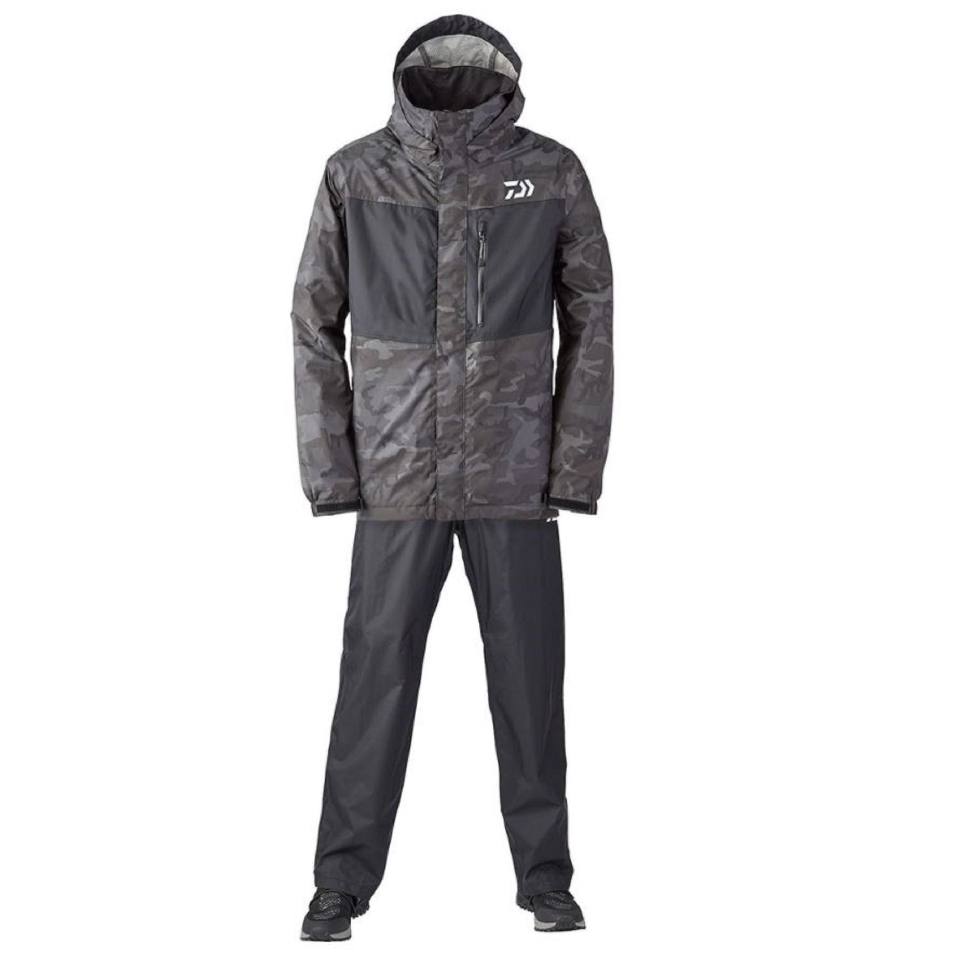 Daiwa DR-3621 Rainmax Water Repellent Jacket Size L Black Camo (6299)