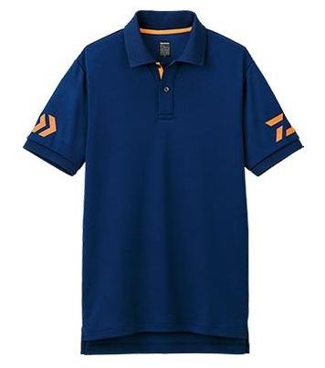 Sale Daiwa DE-7906 Polo T Shirt Short Sleeve Size 2XL Navy 060974
