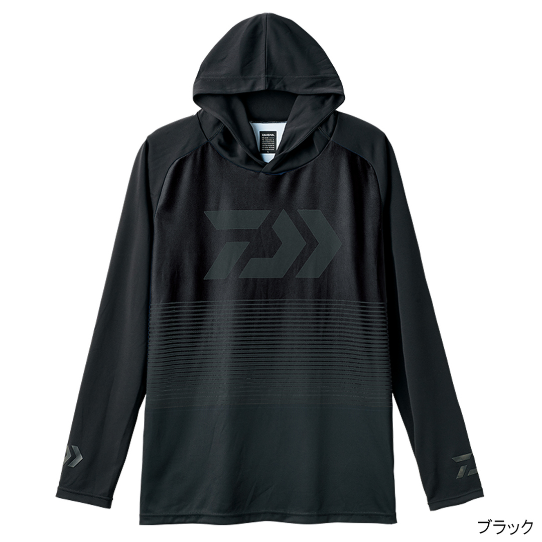 Daiwa De-34008 Hood Shirt Long Sleeve Black Size L (7147)