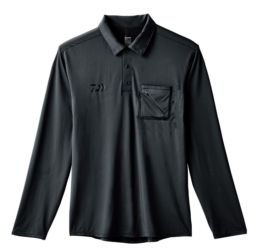 Daiwa De-69008 Polo Shirt Long Sleeve Black Size L (8198)