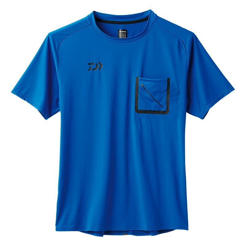 Daiwa De-86008 T Shirt Short Sleeve Blue Size L (5134)