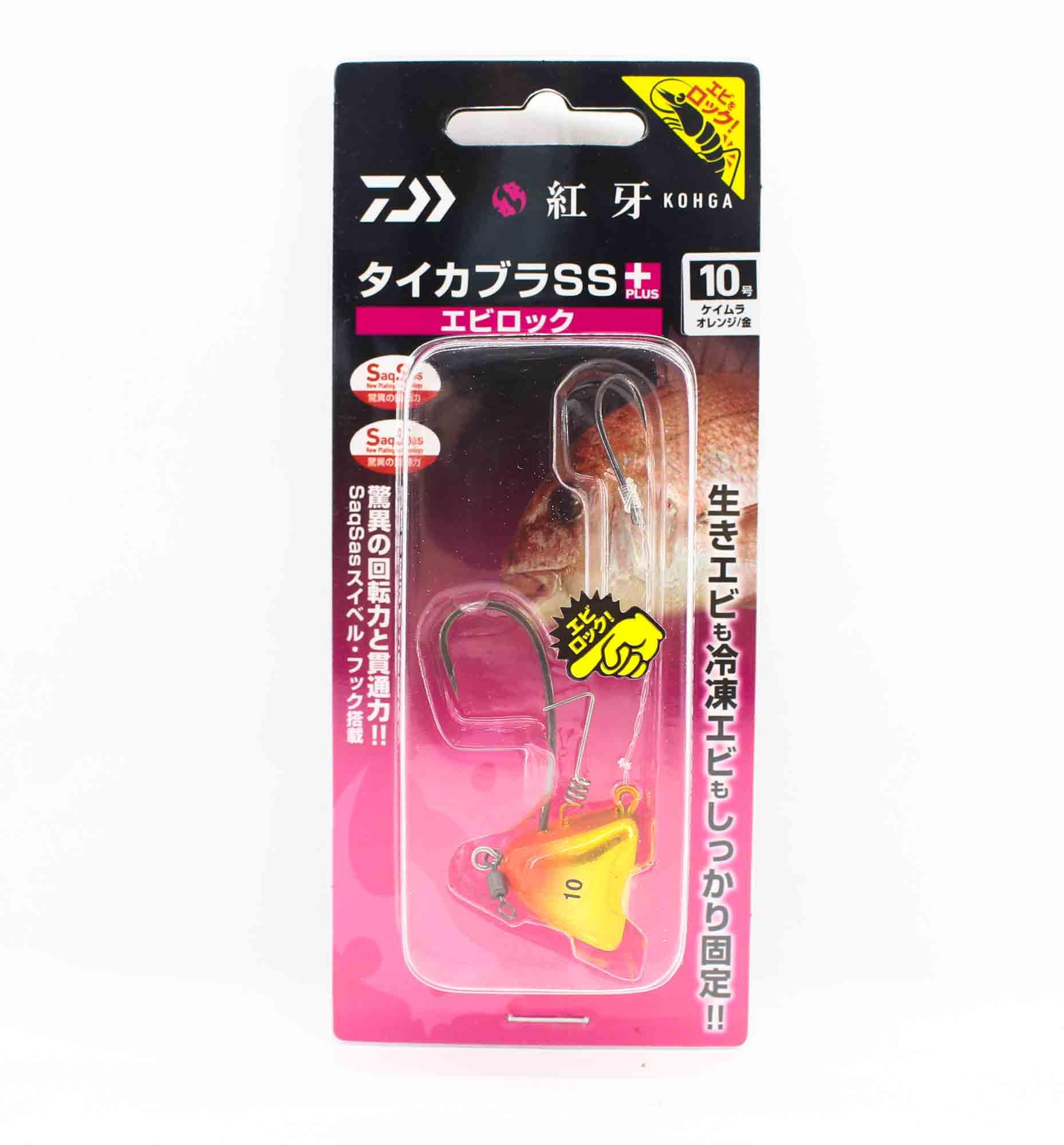 Daiwa Kabura SS+ Tenya Jig Size 10 UV OR/Gold 003172