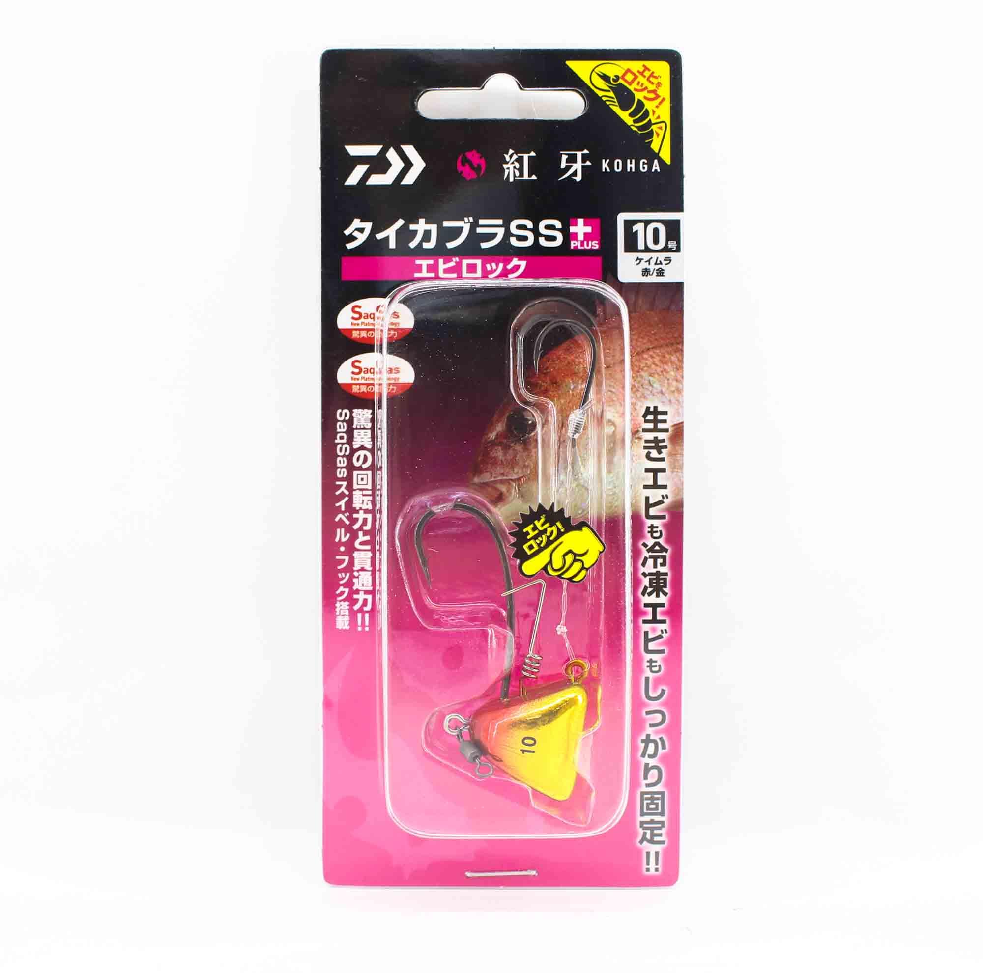 Daiwa Kabura SS+ Tenya Jig Size 10 UV Red/Gold 003189