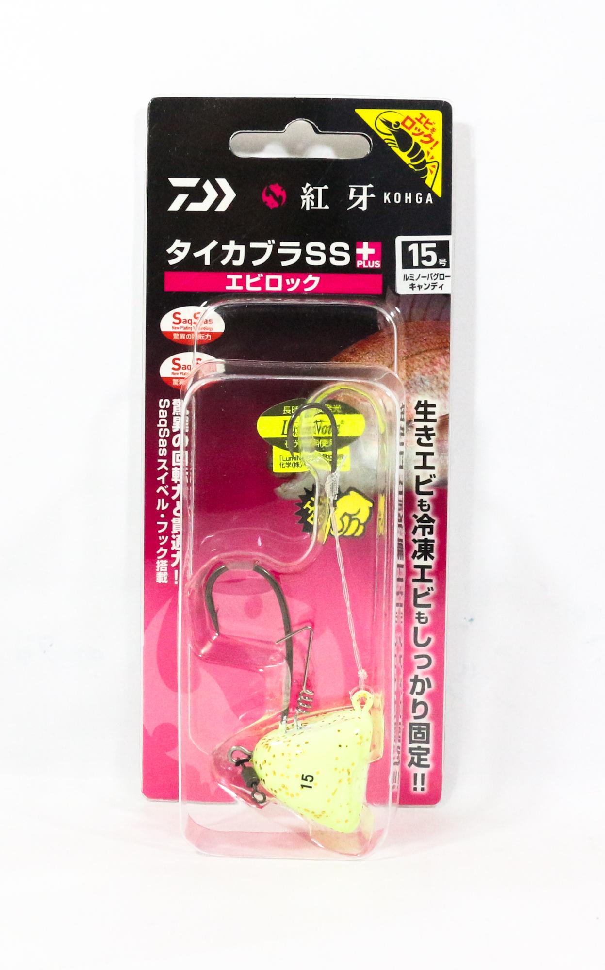 Daiwa Kabura SS+ Tenya Jig Size 15 L Glow/G Flake 003257