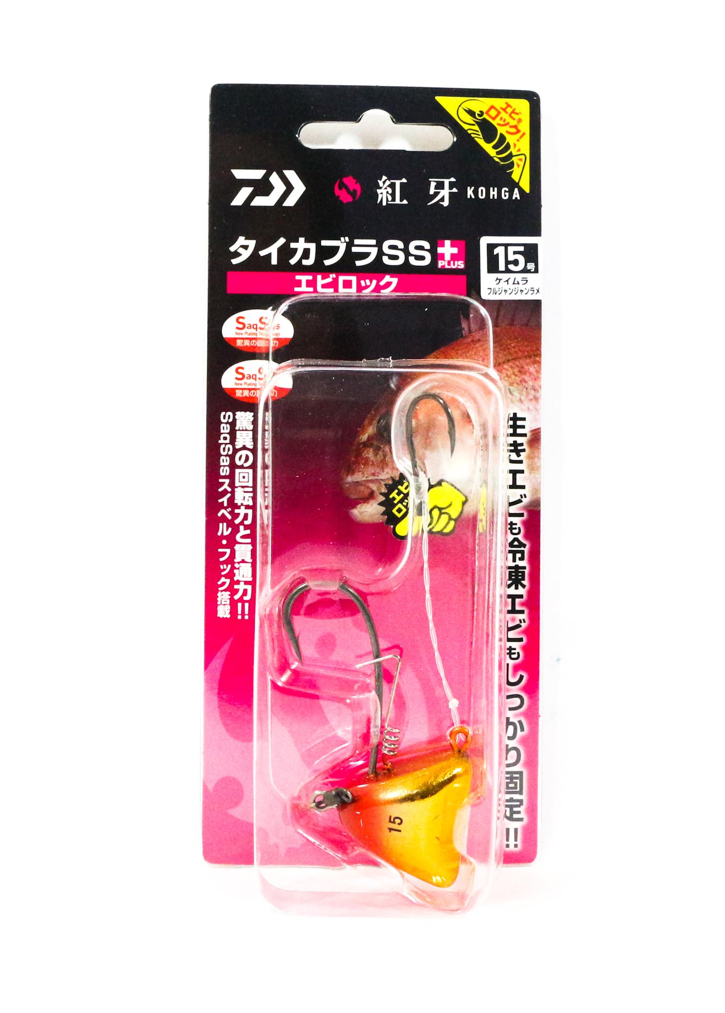 Daiwa Kabura SS+ Tenya Jig Size 15 UV OR/Gold 003271