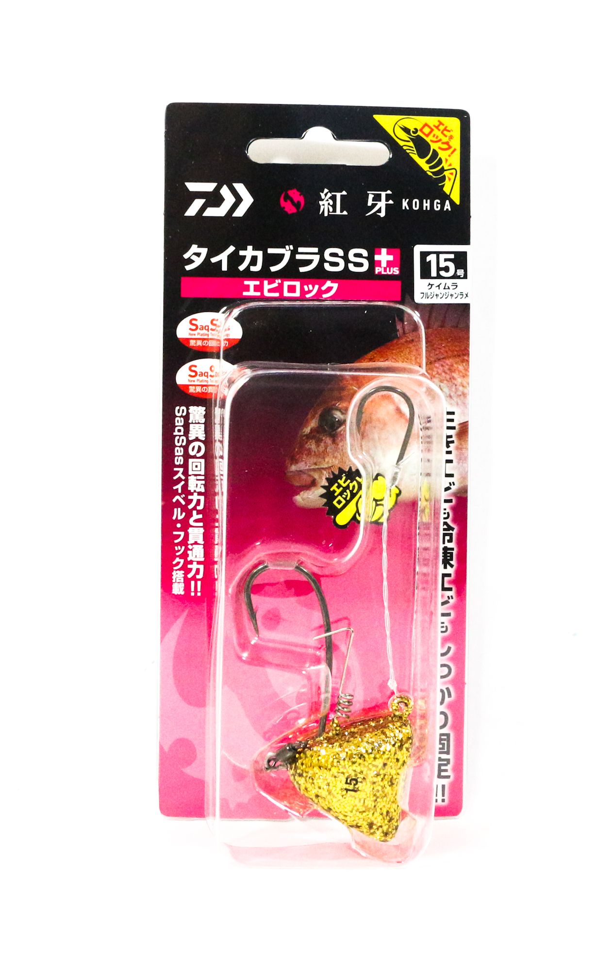 Daiwa Kabura SS+ Tenya Jig Size 15 UV GD/F Flake 003295